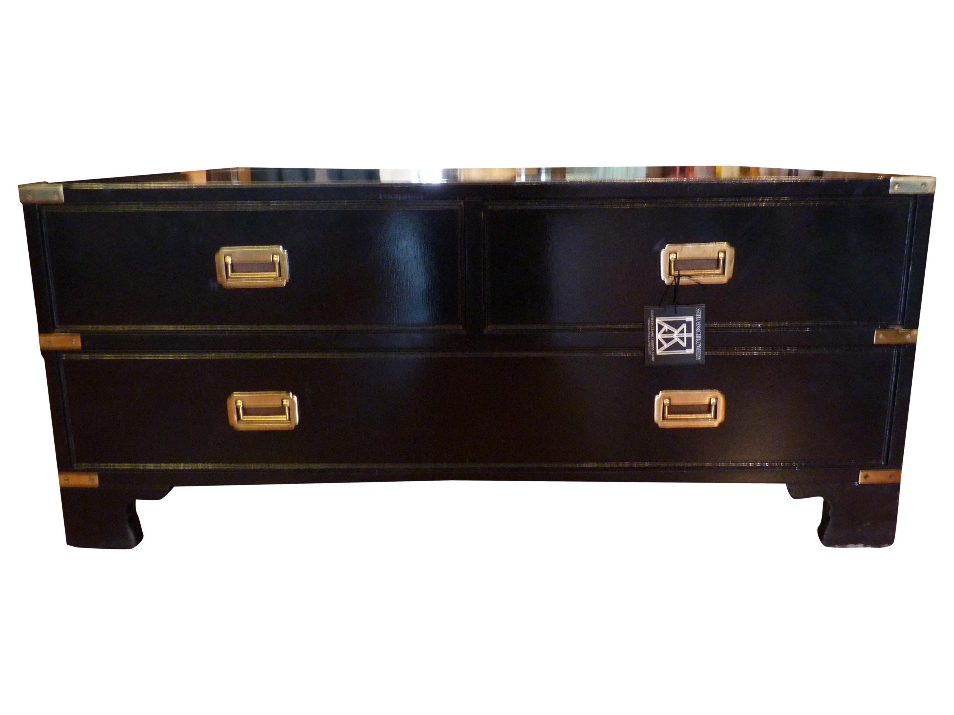 Campaign Style Black Lacquer Chest Coffee Table Chairish
