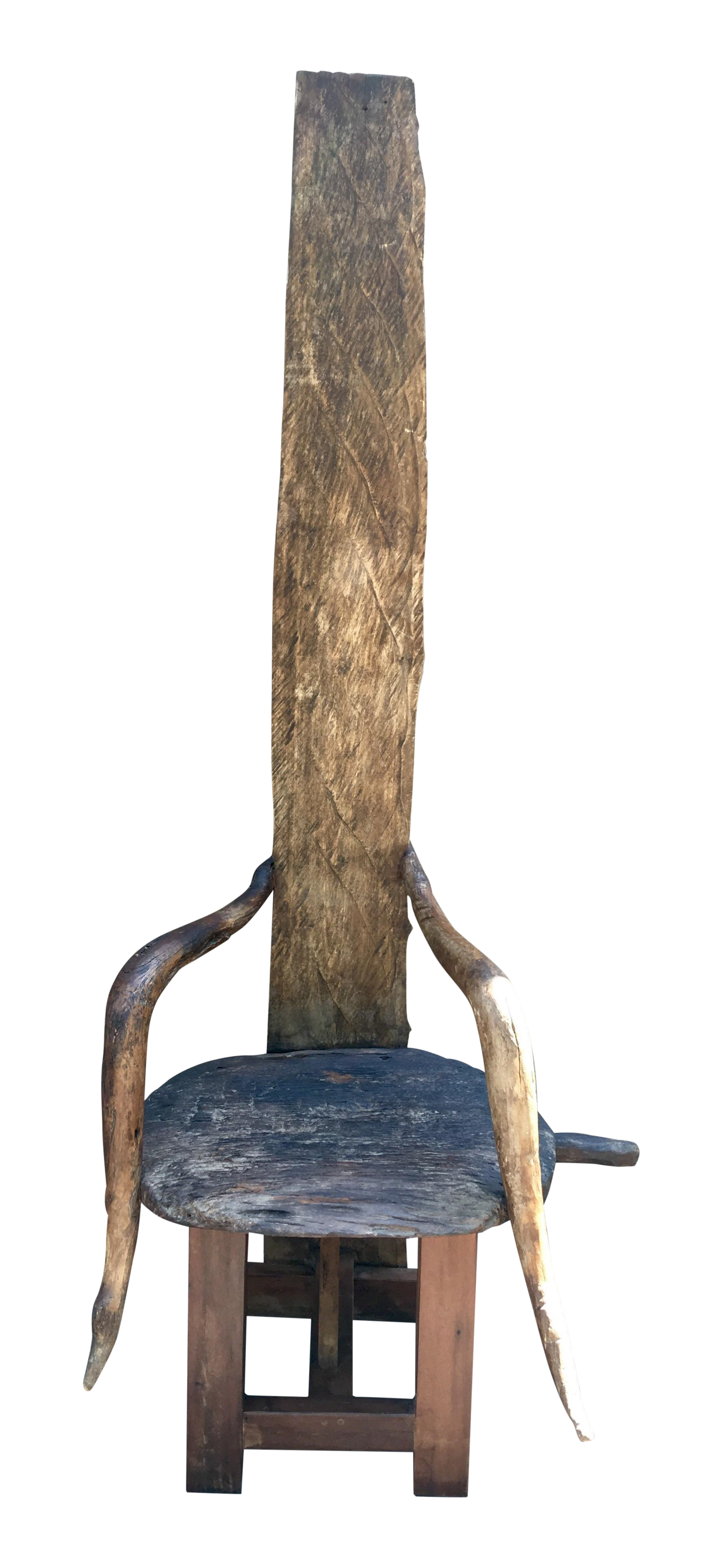 Reclaimed Wood Throne Chair