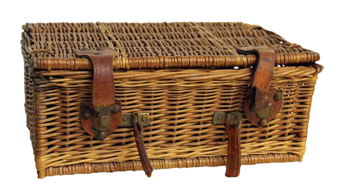 Picnic Baskets For 4 Ireland : Rustic wicker picnic basket chairish