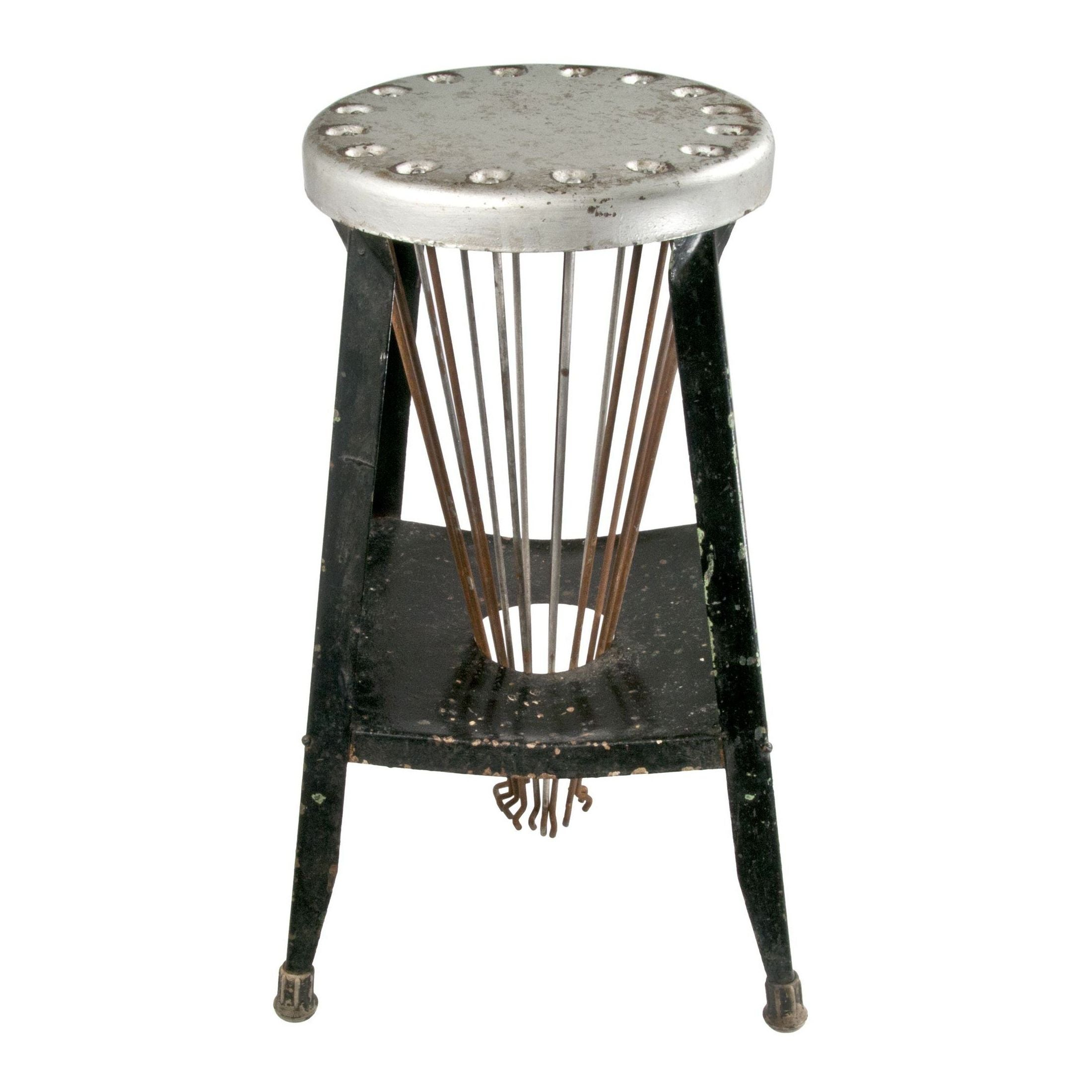 kitchen vanity cabinets sommers vintage metal stool with drying rack chairish 22118