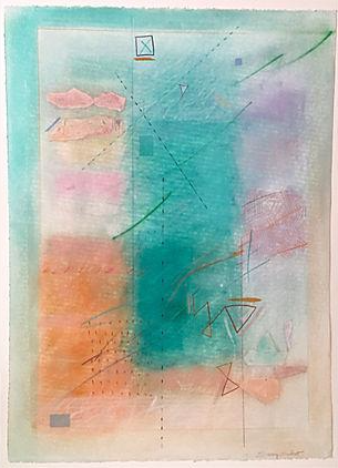 Modernist Abstract Pastel By Sherry Schrut Chairish