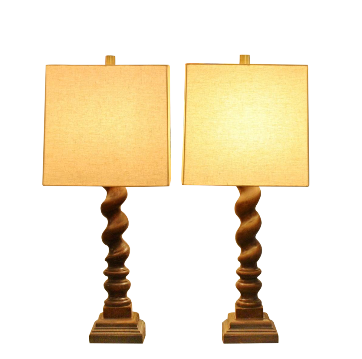 Barley Twist Table Lamps A Pair Chairish