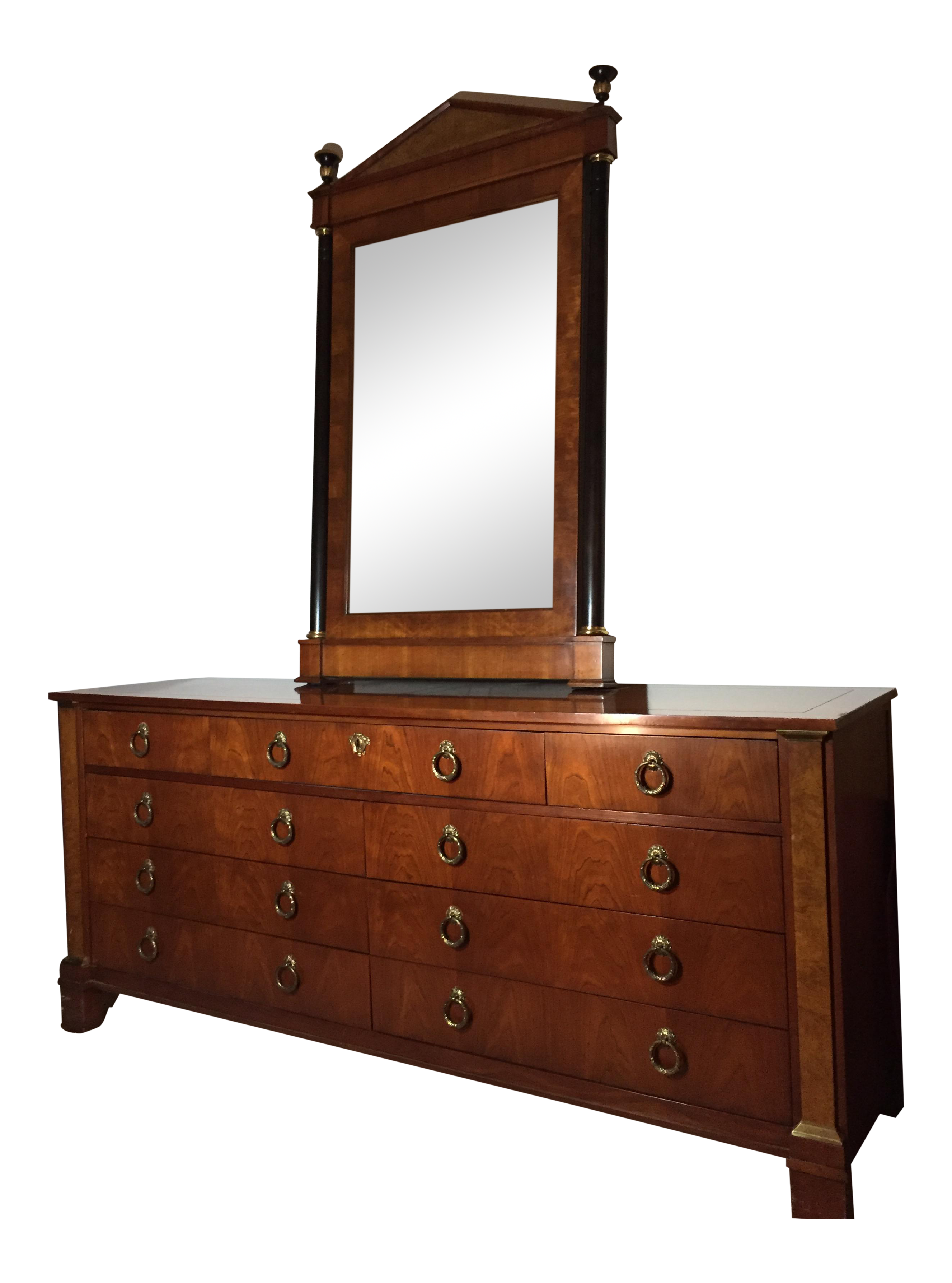 Baker Furniture Palladian Cherry Dresser With Mirror