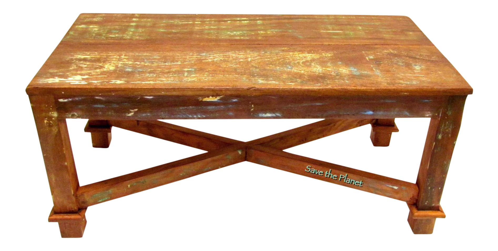 Antique coffee table eco friendly reclaimed solid wood chairish Eco friendly coffee table