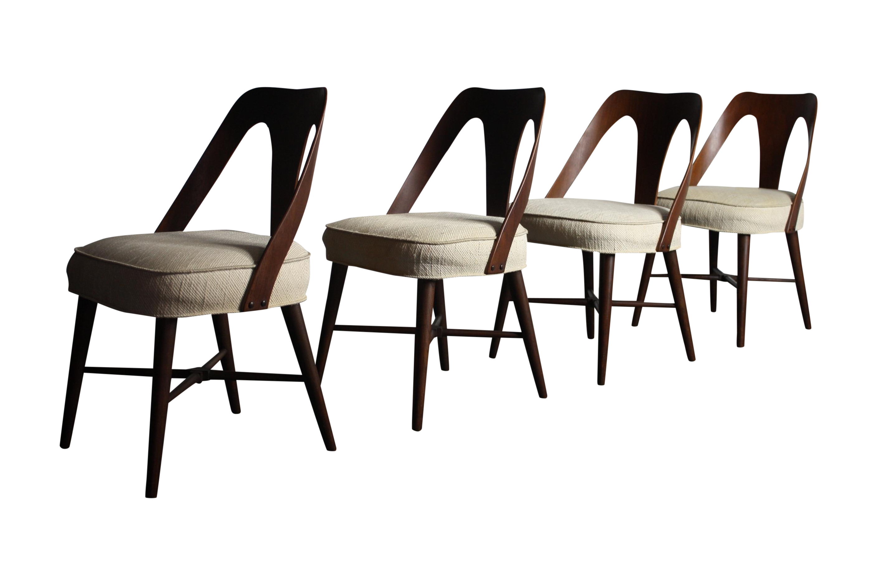Lawrence Peabody Dining Chairs A Set Of 4 Chairish