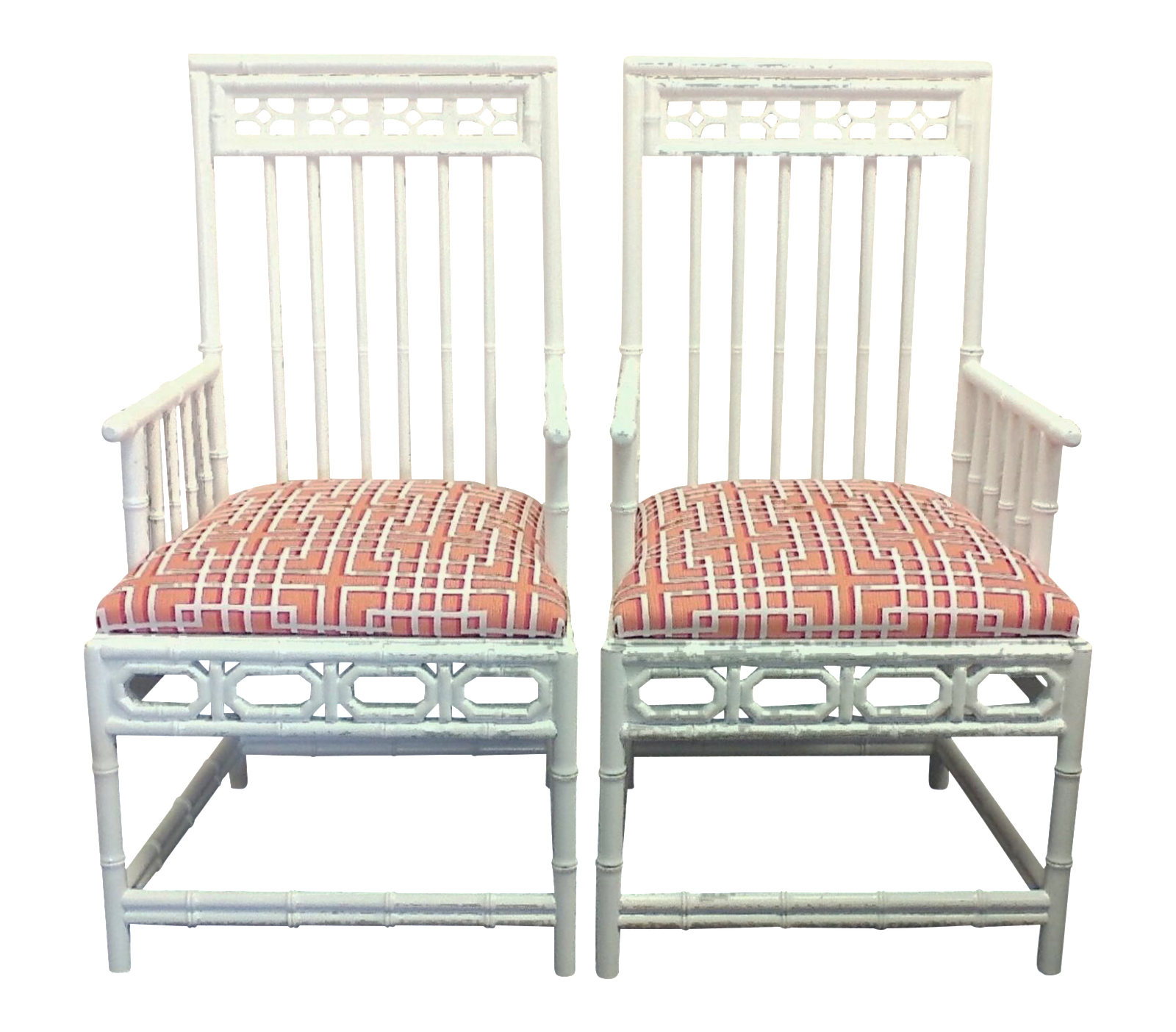 Chinese Chippendale Occasional Chairs A Pair Chairish