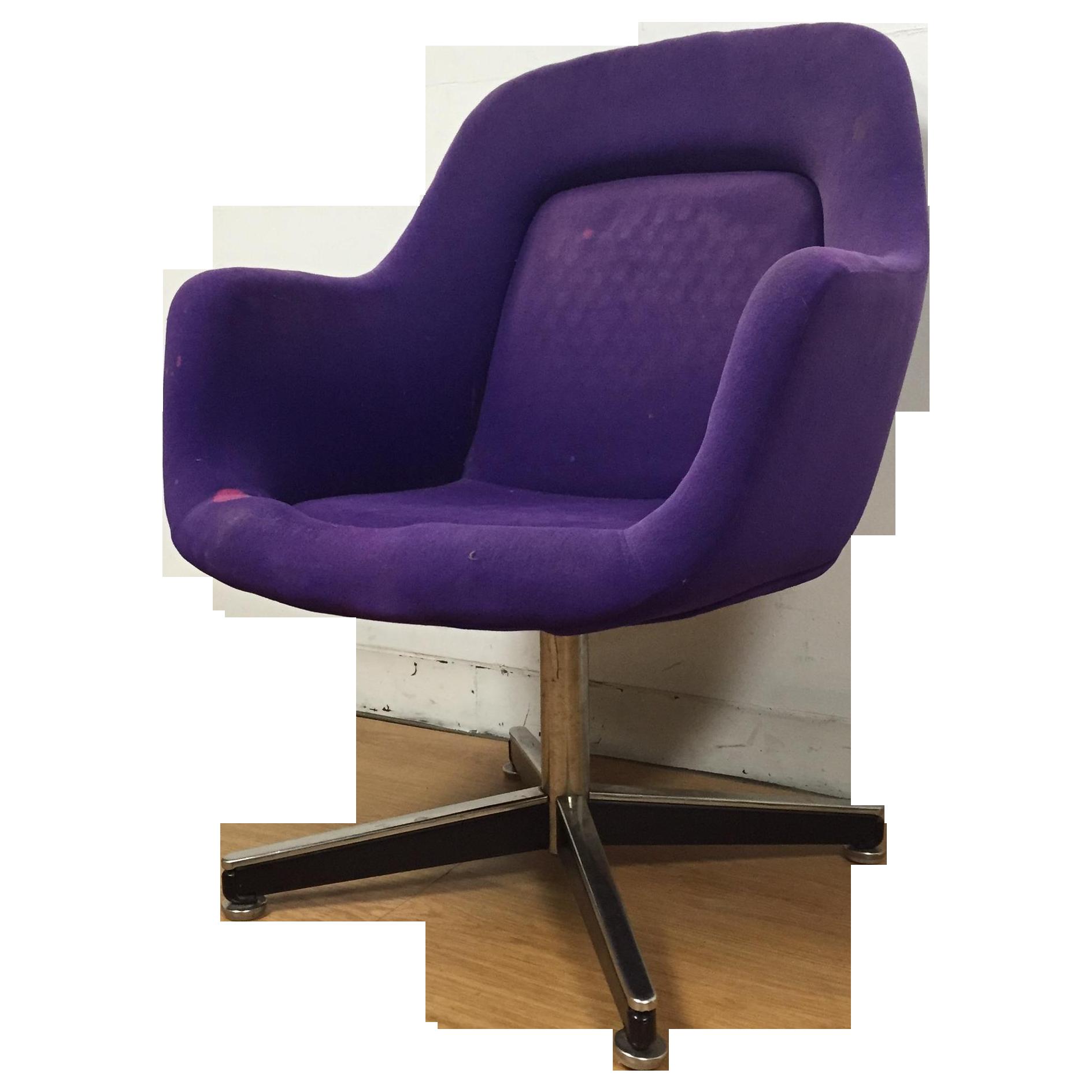 Purple Knoll Swivel Chair Chairish