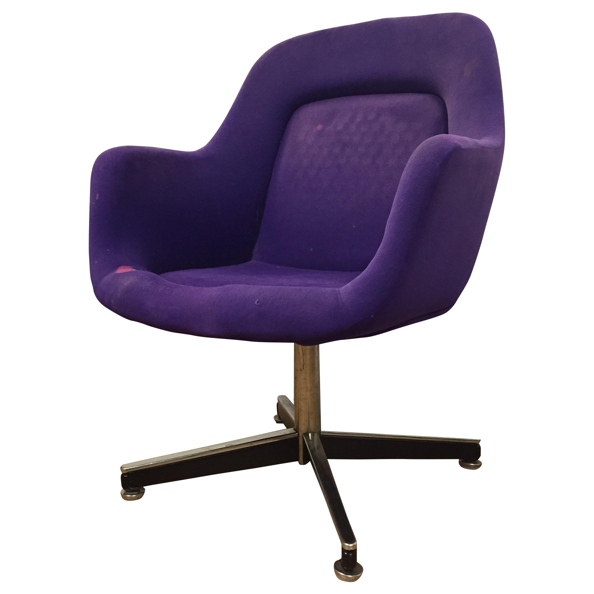 modern furniture chairs png purple knoll swivel chair chairish 491
