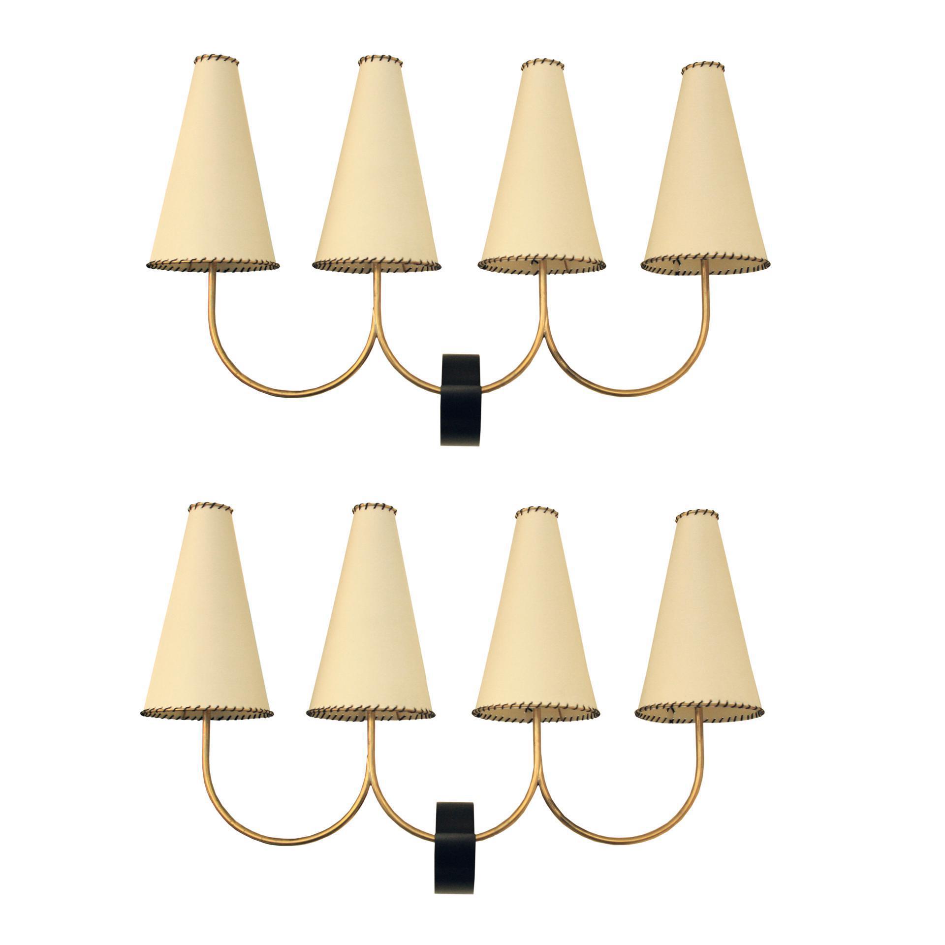 Excellent Diego Mardegan  Quattro Coni  Wall Lights   A Pair   DECASO. Quattro Lighting. Home Design Ideas
