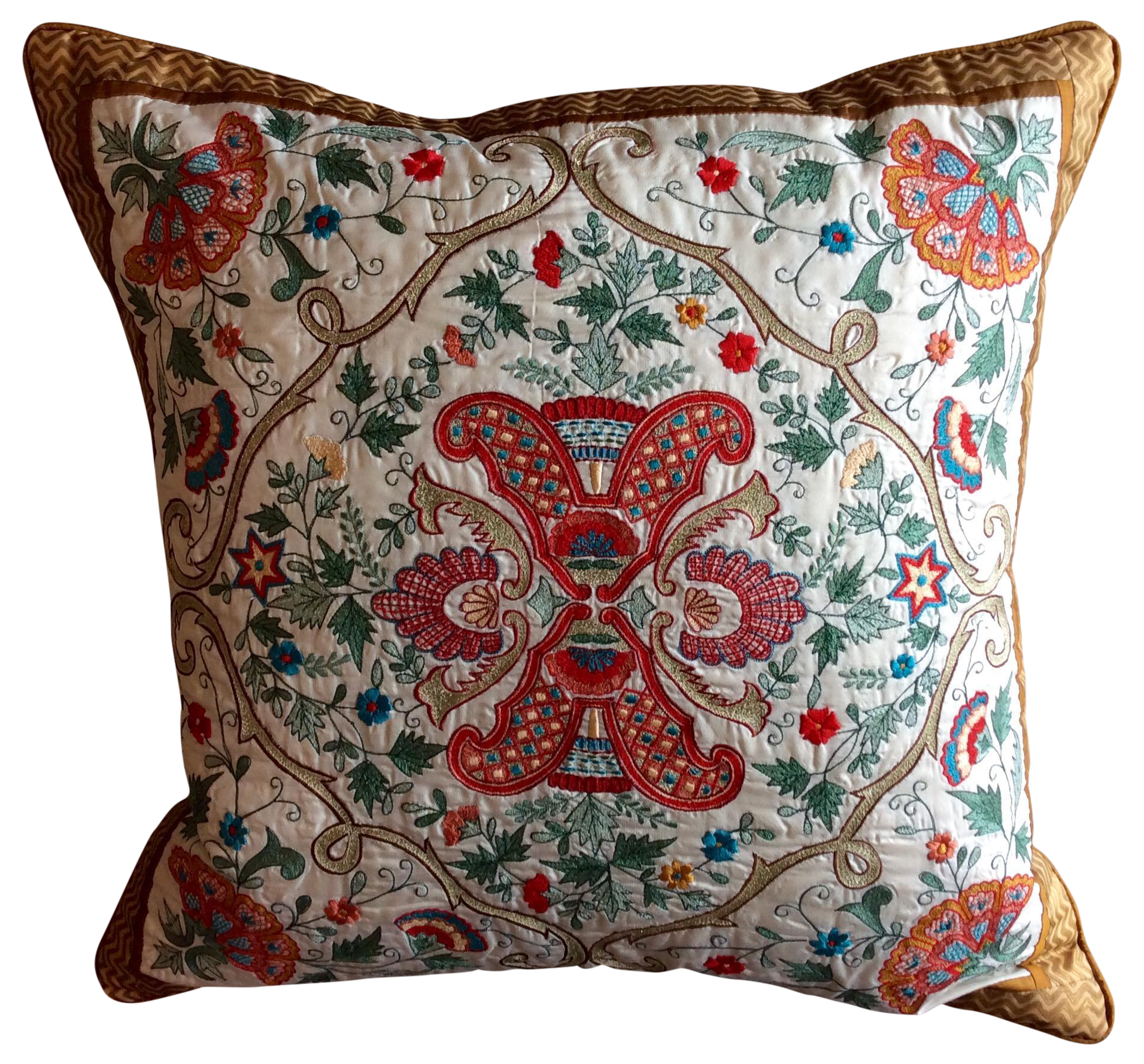 Embroidered Silk Accent Pillow Cover Chairish