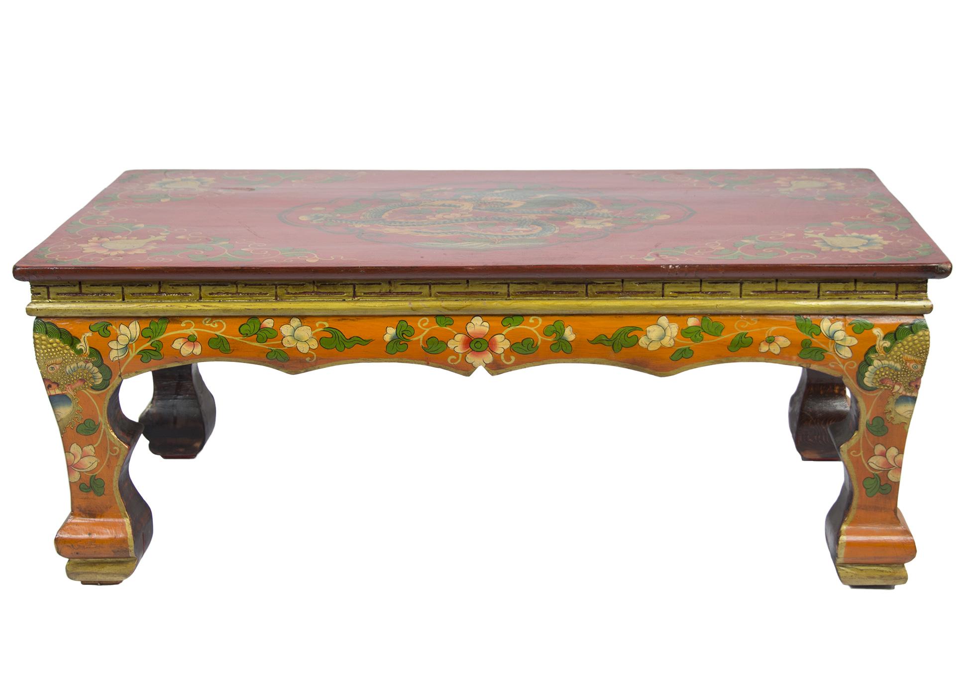 Hand Painted Tibetan Coffee Table