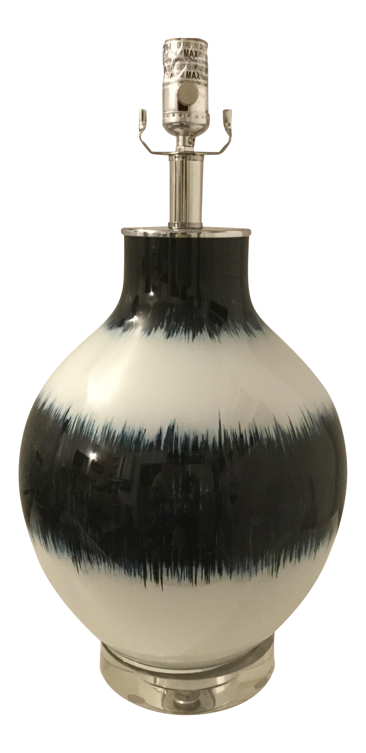 Regina andrew design hand painted indigo glass table lamp for Design table lamp giffy 17 7