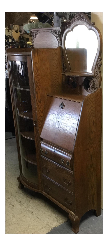 - Antique Secretary Desk Curio Cabinet Chairish