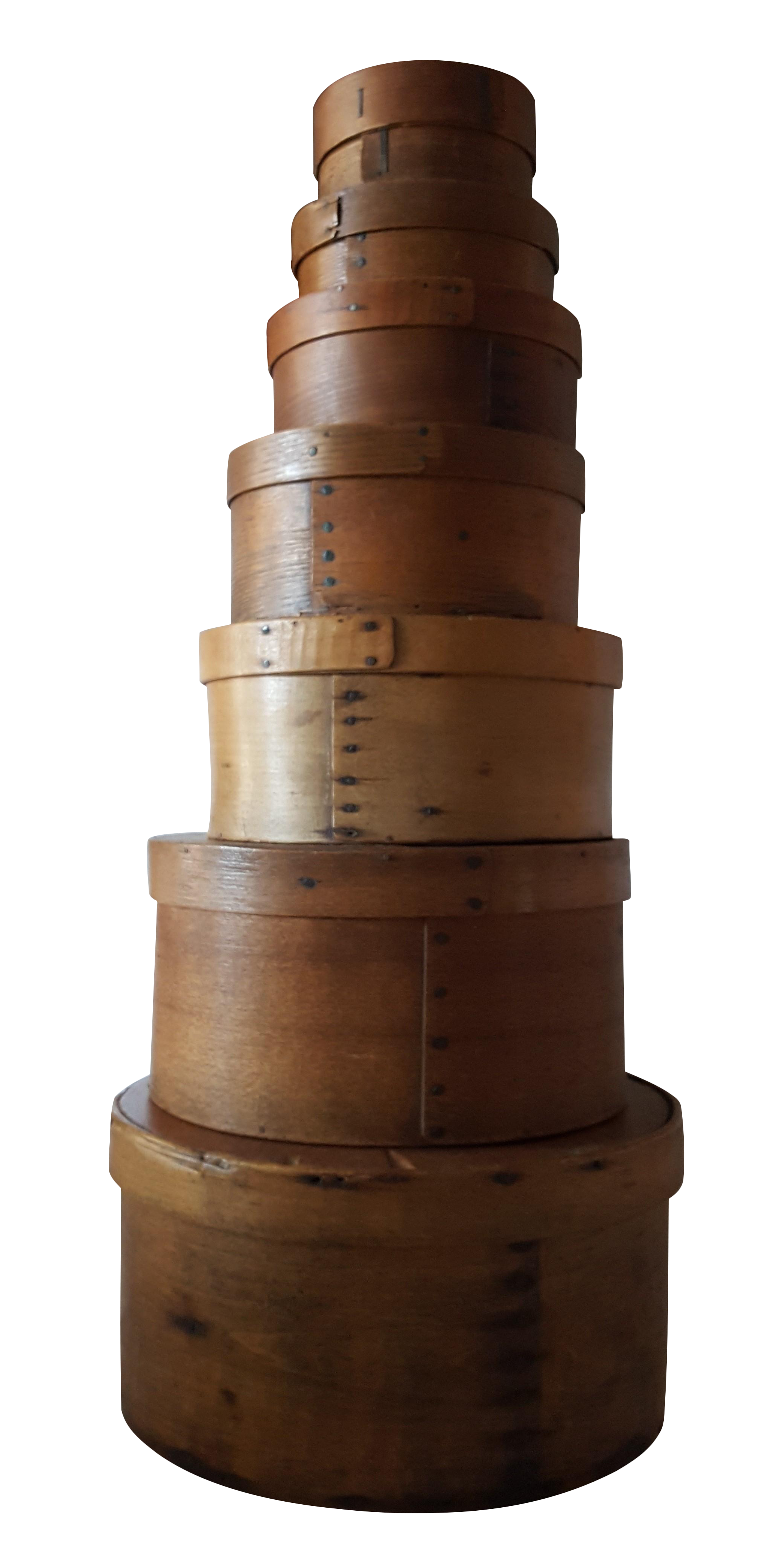 19th Century Shaker Wooden Stacking Boxes Set Chairish