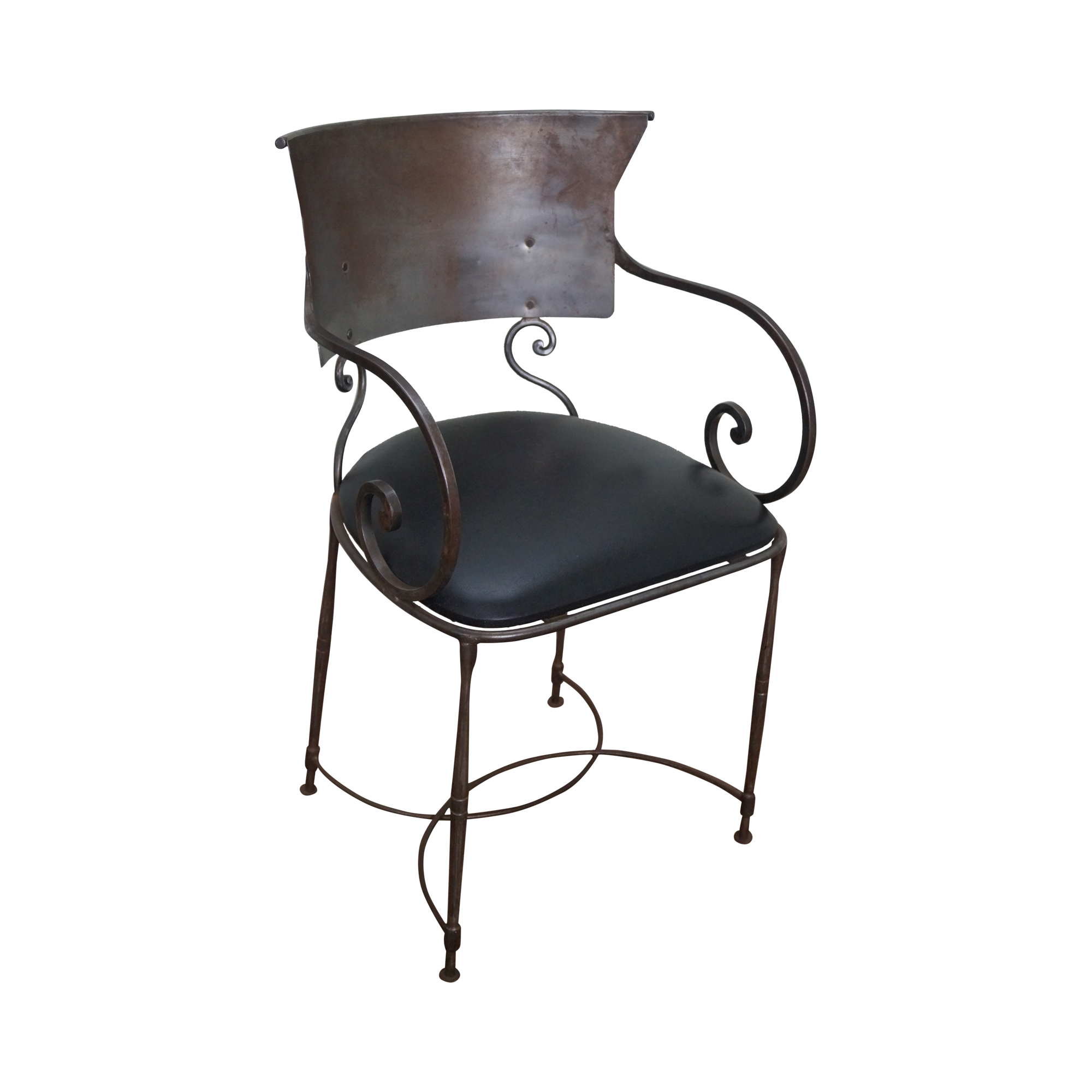 Quality Steel Directoire Style Klismos Arm Chair : Chairish