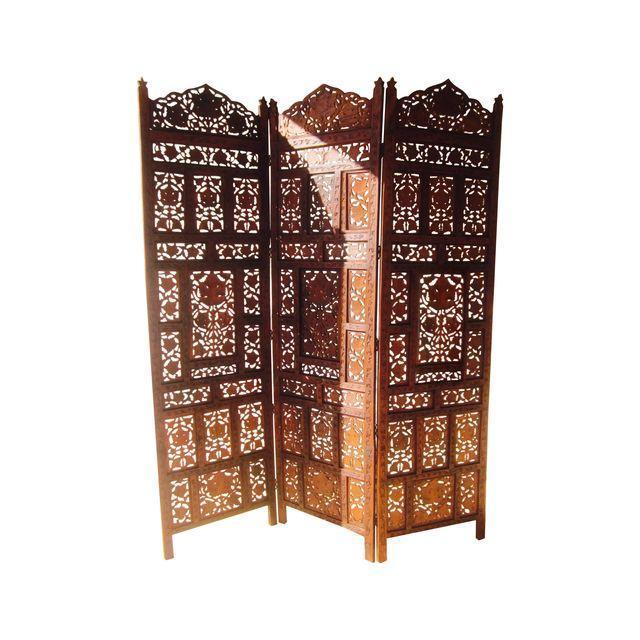 Moroccan Teak Wood Room Divider Screen Chairish