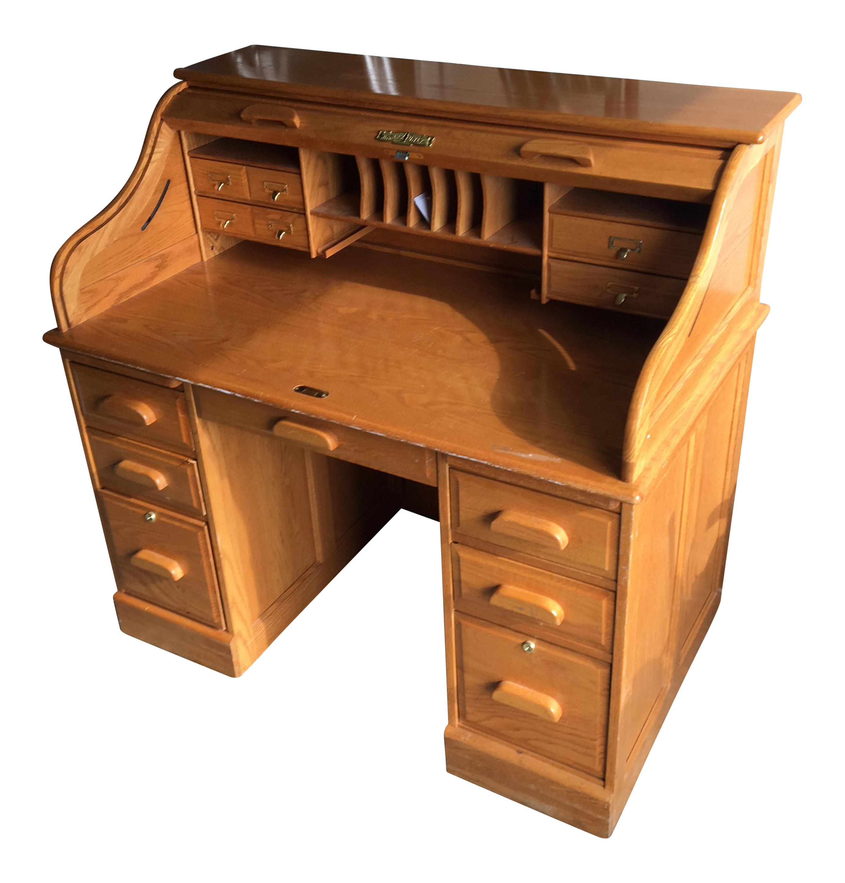 Winner S Only Oak Roll Top Desk Chairish