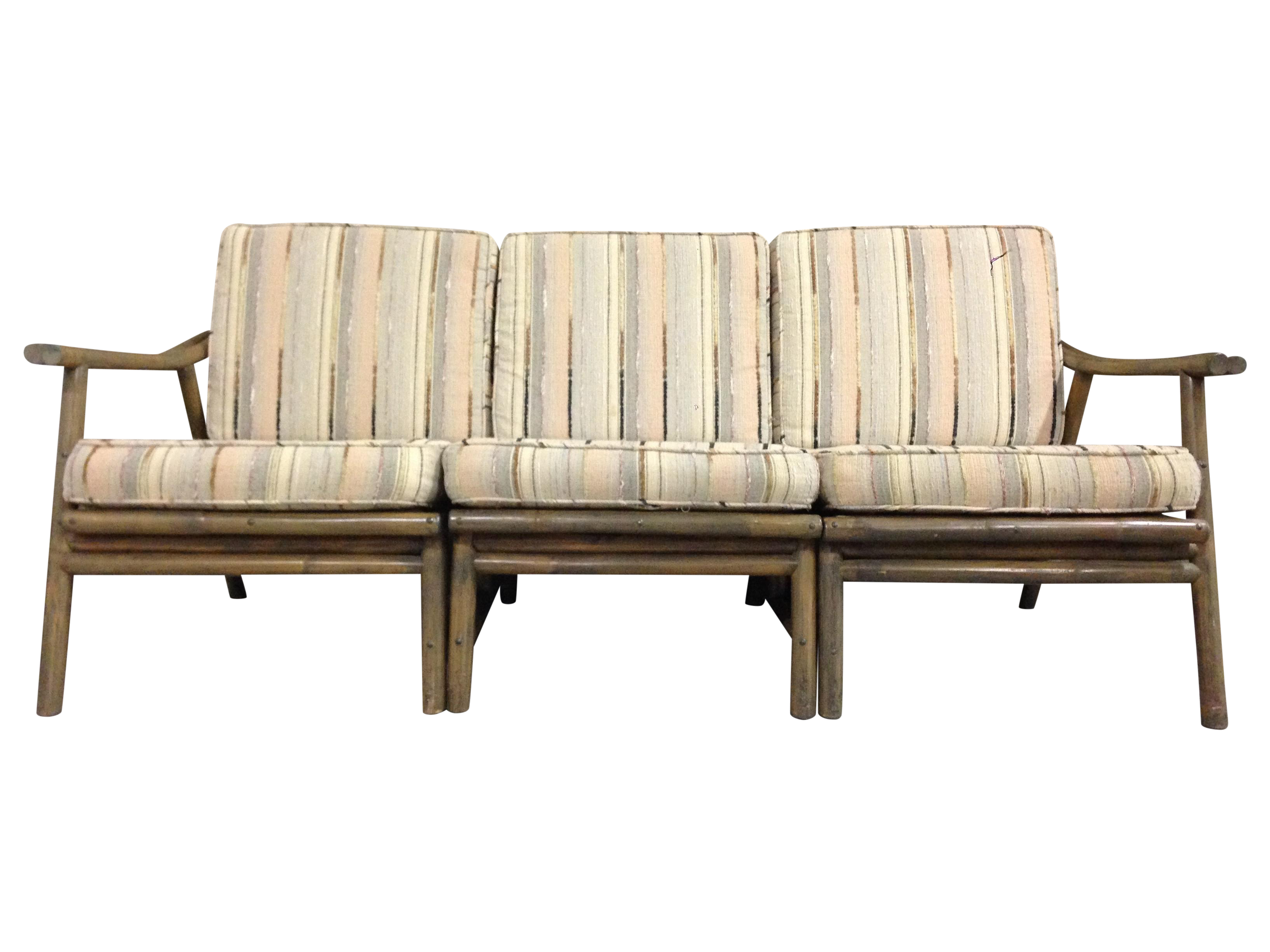 Design Bamboo Couch vintage mid century modern bamboo rattan sofa chairish