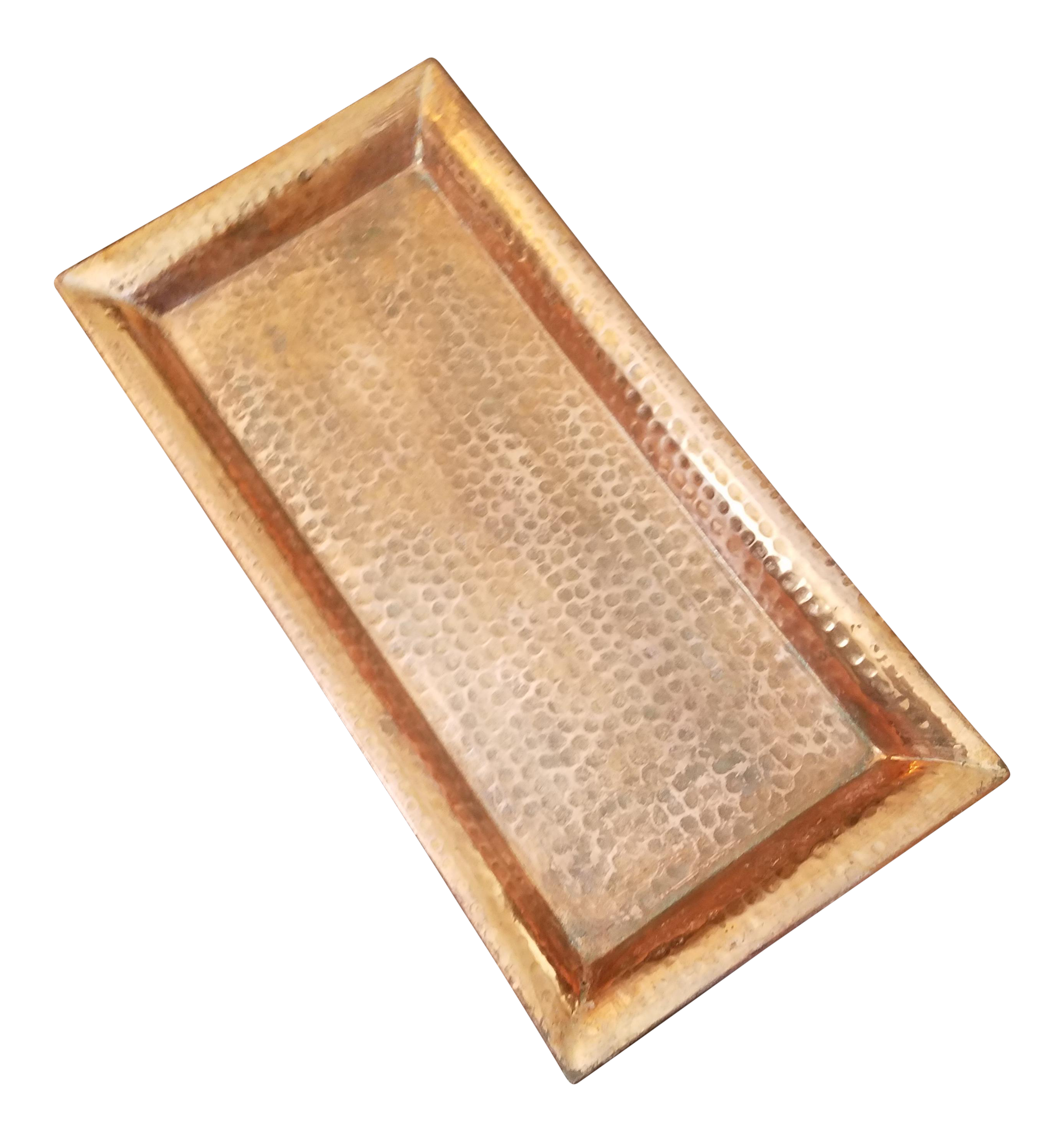 Crate & Barrel Distressed Copper Tray