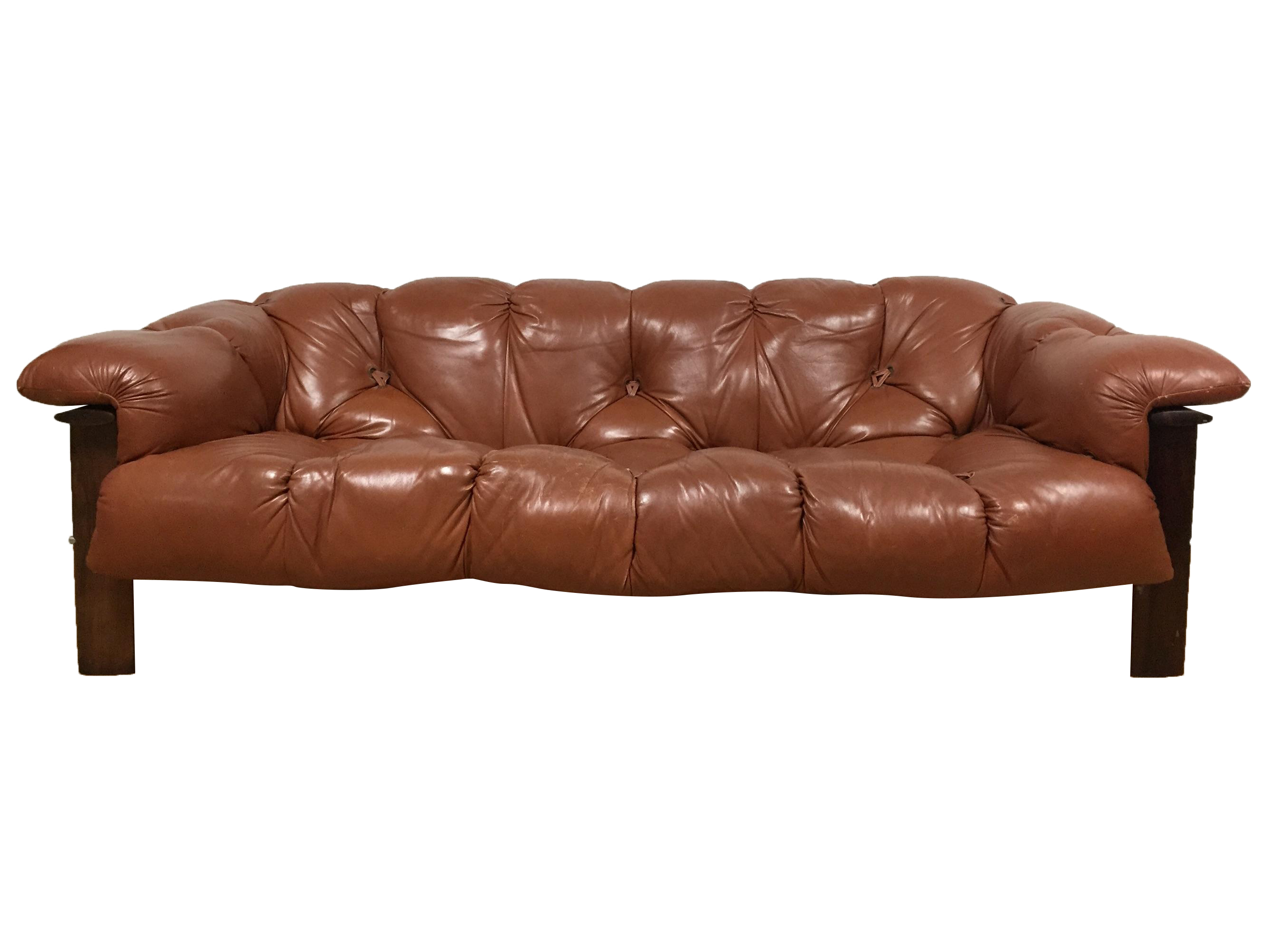 Percival Lafer Brazilian Rosewood Sofa Chairish