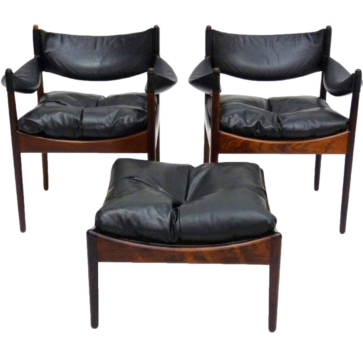 Kristian Vedel Quot Modus Quot Chairs Amp Ottoman Set Of 3 Chairish