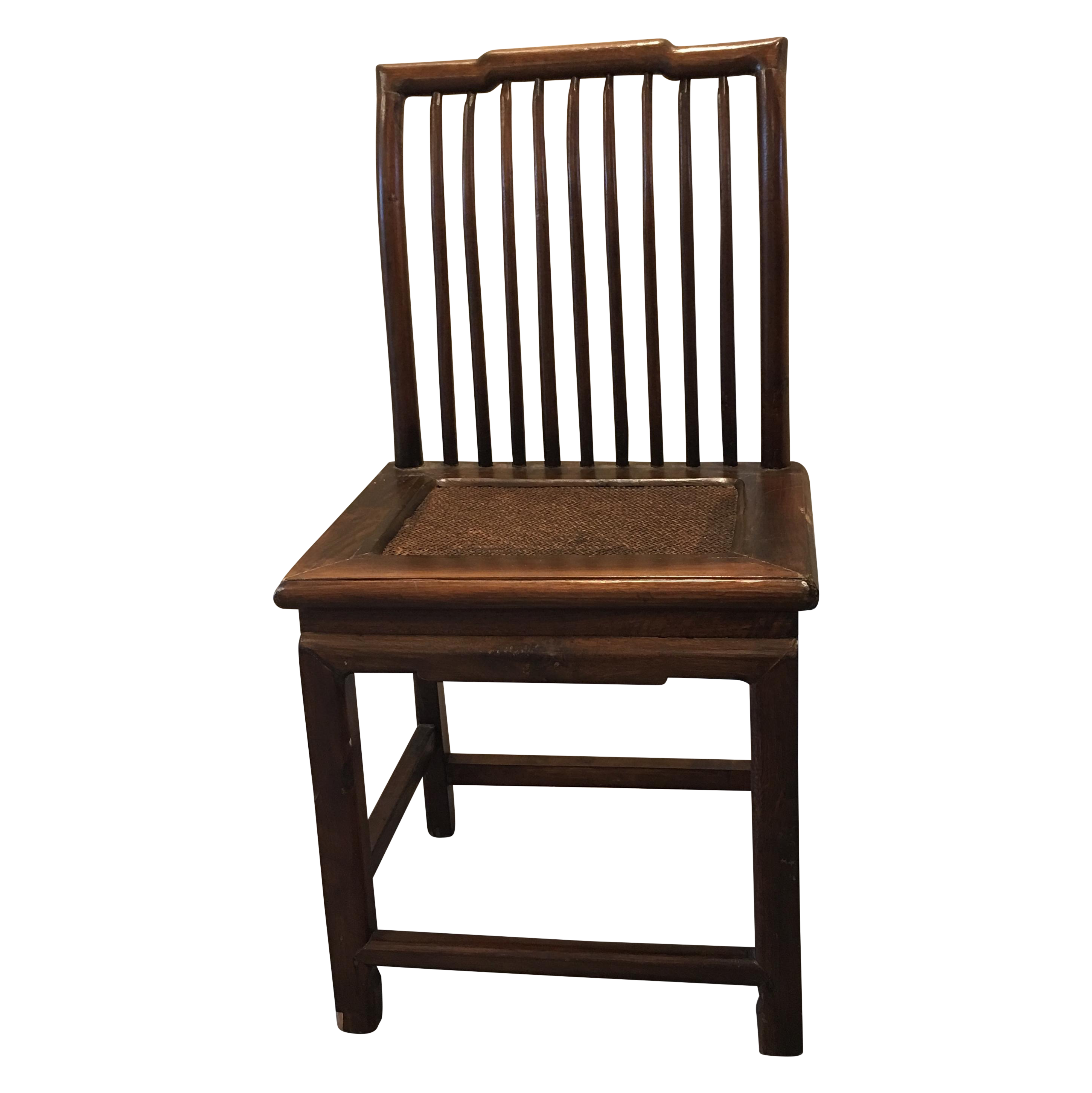 Superb img of Antique Chinese Wood & Woven Seat Side Chair Chairish with #8D603E color and 2901x2902 pixels