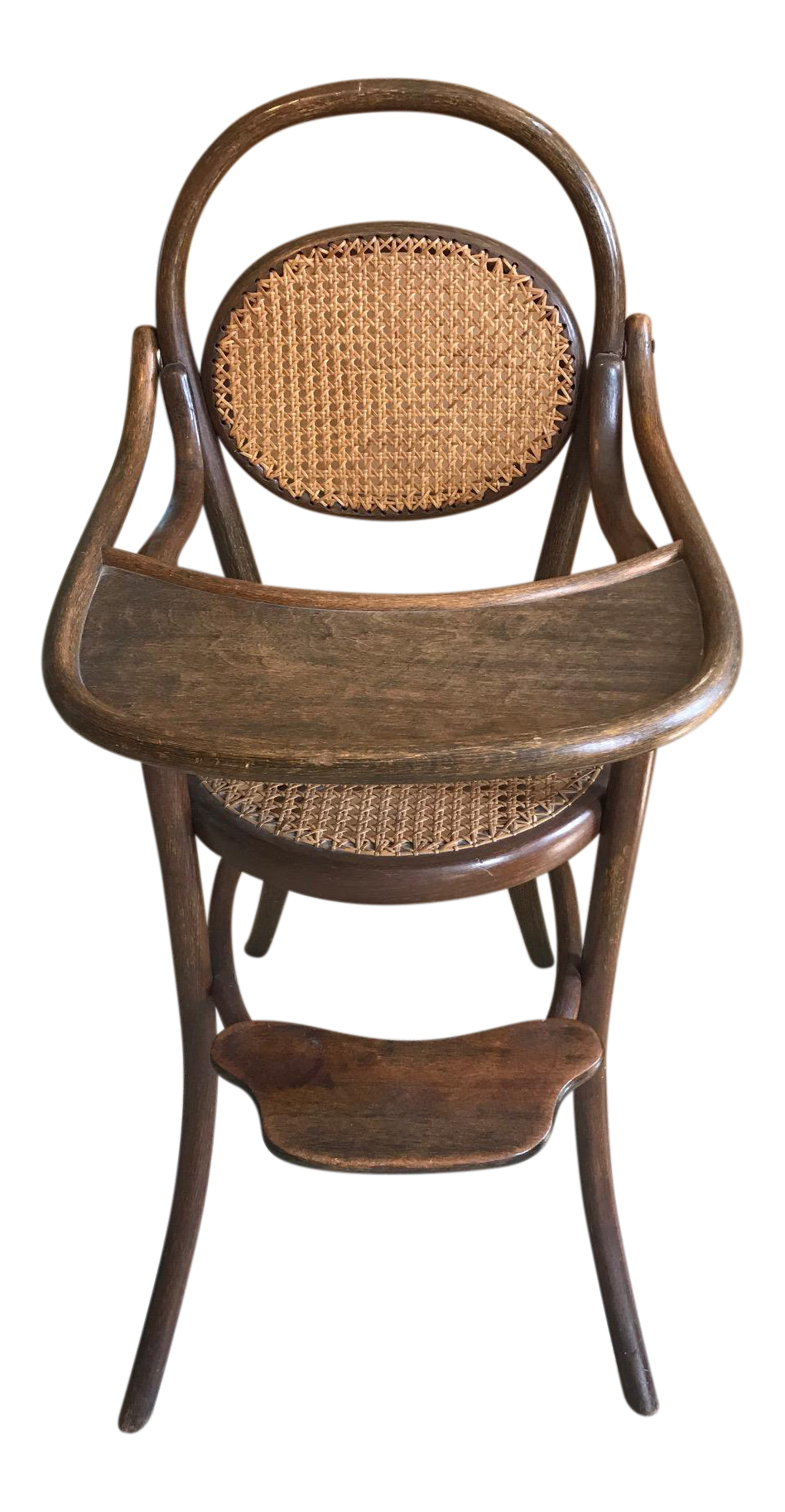Antique high chair bentwood - Image Of D G Fischel Sons Antique Caned Bentwood High Chair
