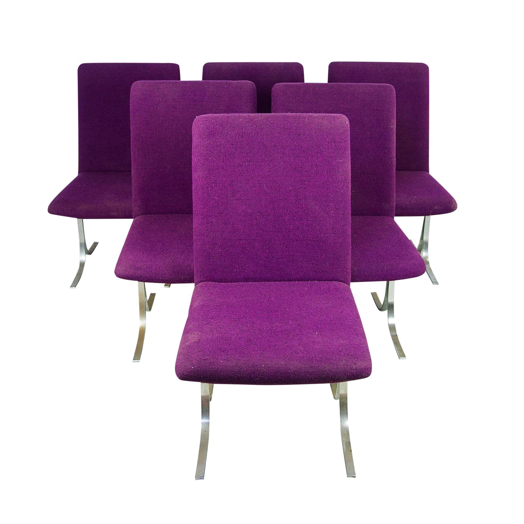 Dyrlund modern dining chairs set of 6 chairish for Modern dining chairs ireland