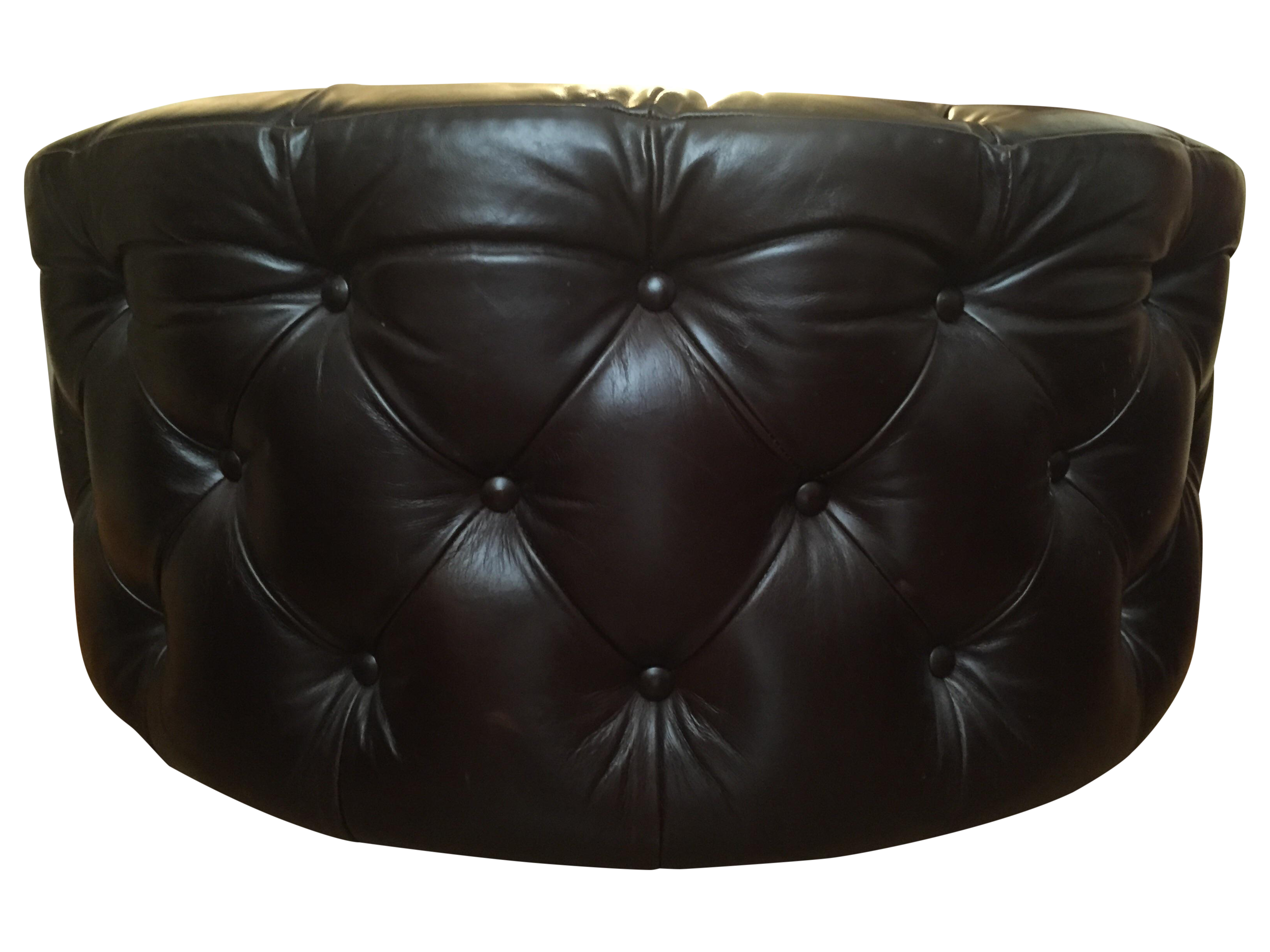 mitchell gold bob williams black tufted ottoman chairish. Black Bedroom Furniture Sets. Home Design Ideas