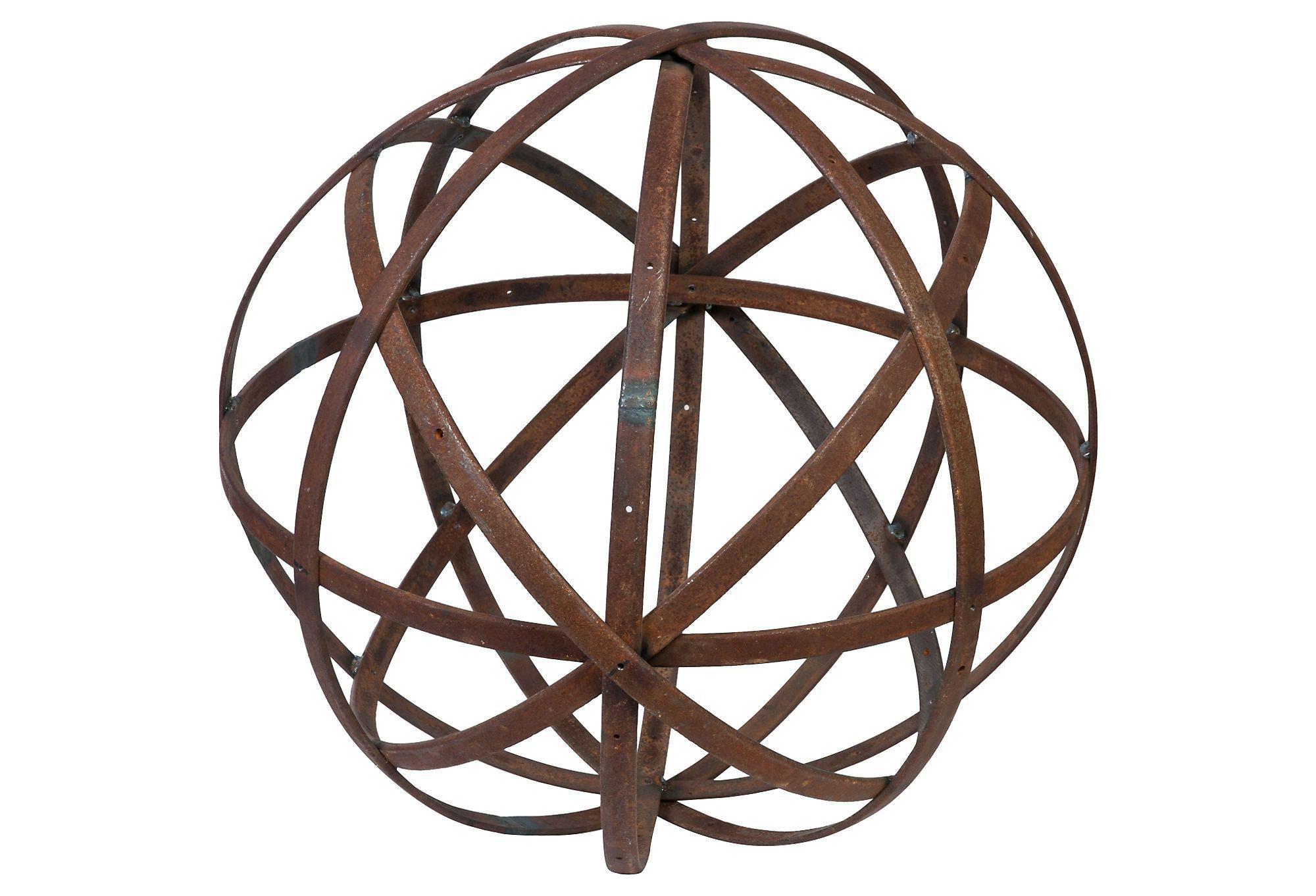 Metal Sphere Chairish