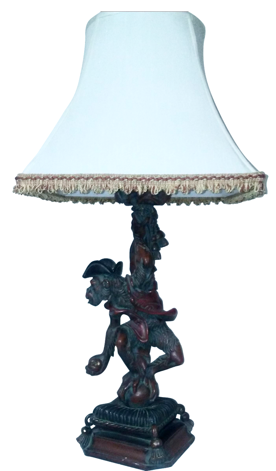 Vintage Monkey Table Lamp Chairish