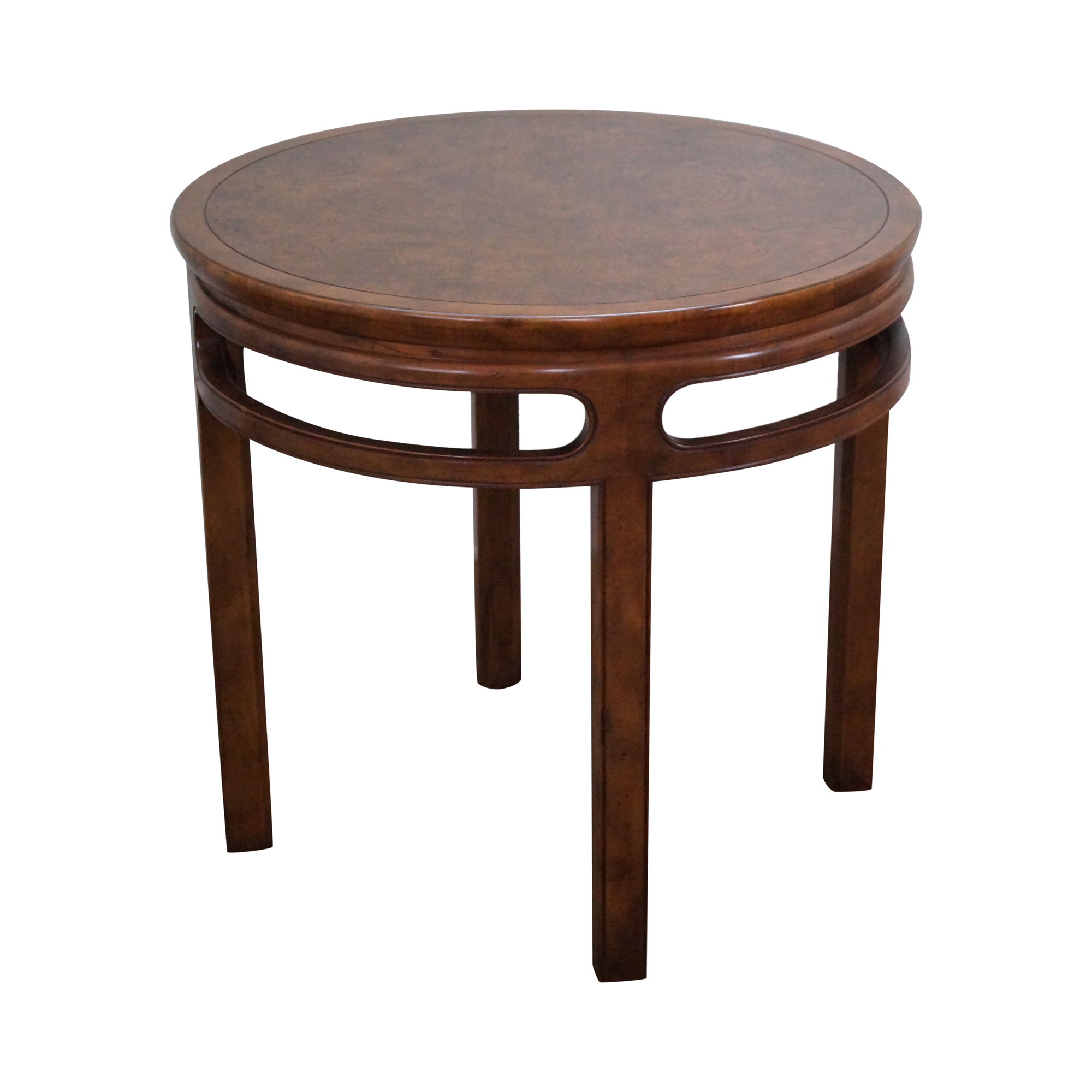 Baker Coffee Table Round: Baker Vintage Asian Inspired Round Side Table