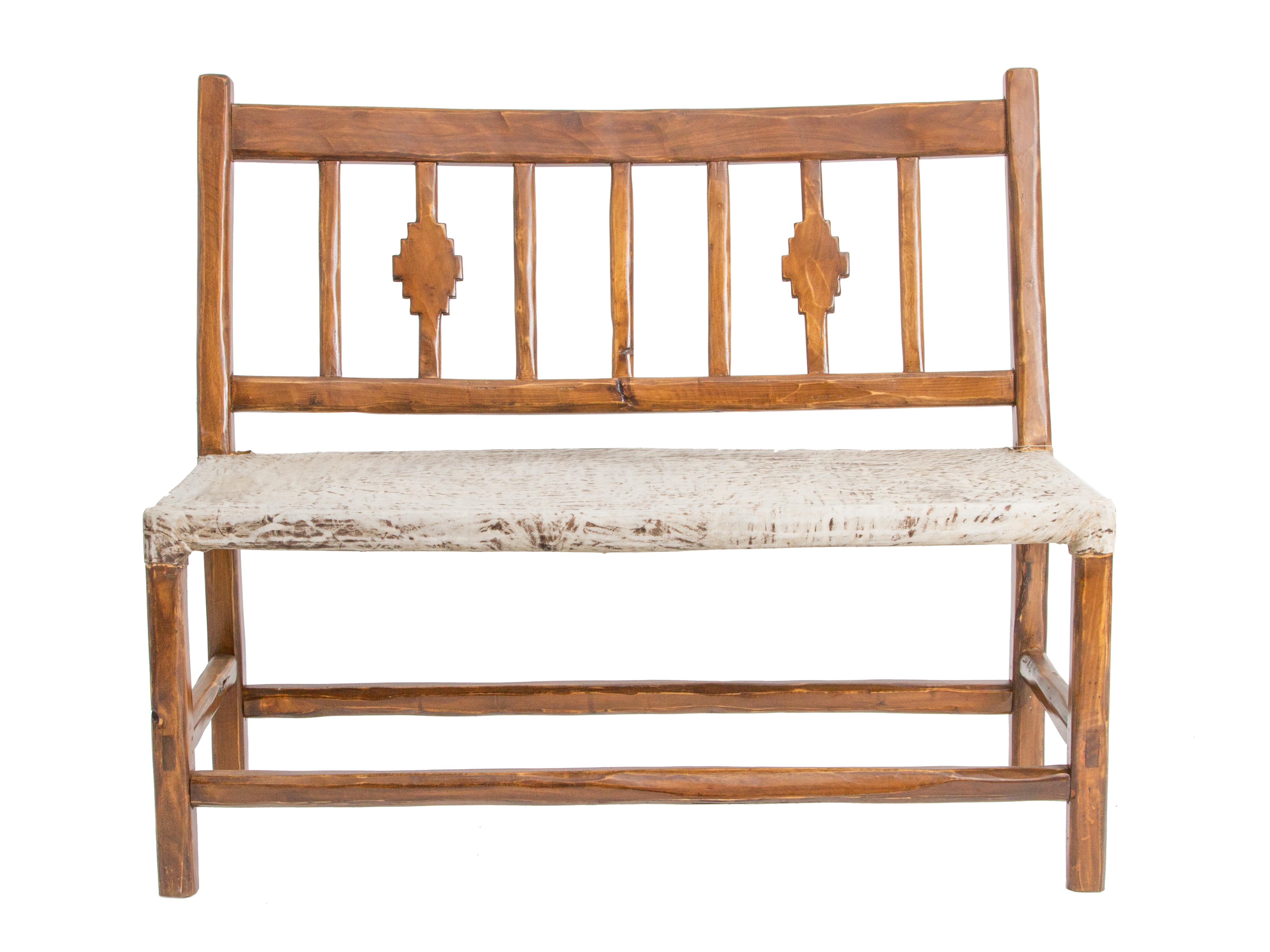 "Wood & Rawhide ""Pampa"" Bench"