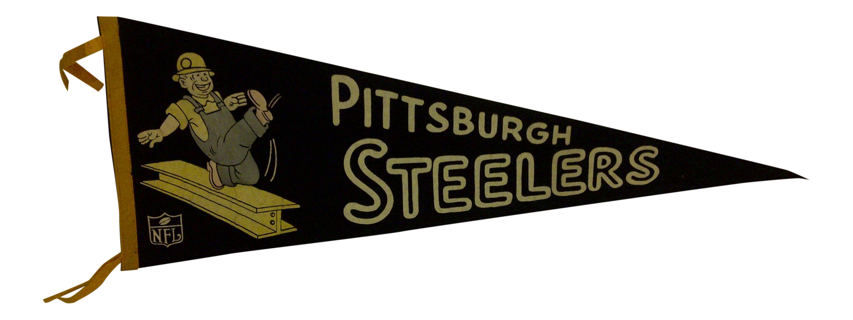 Vintage Football Team Pennant Pittsburgh Steelers Circa