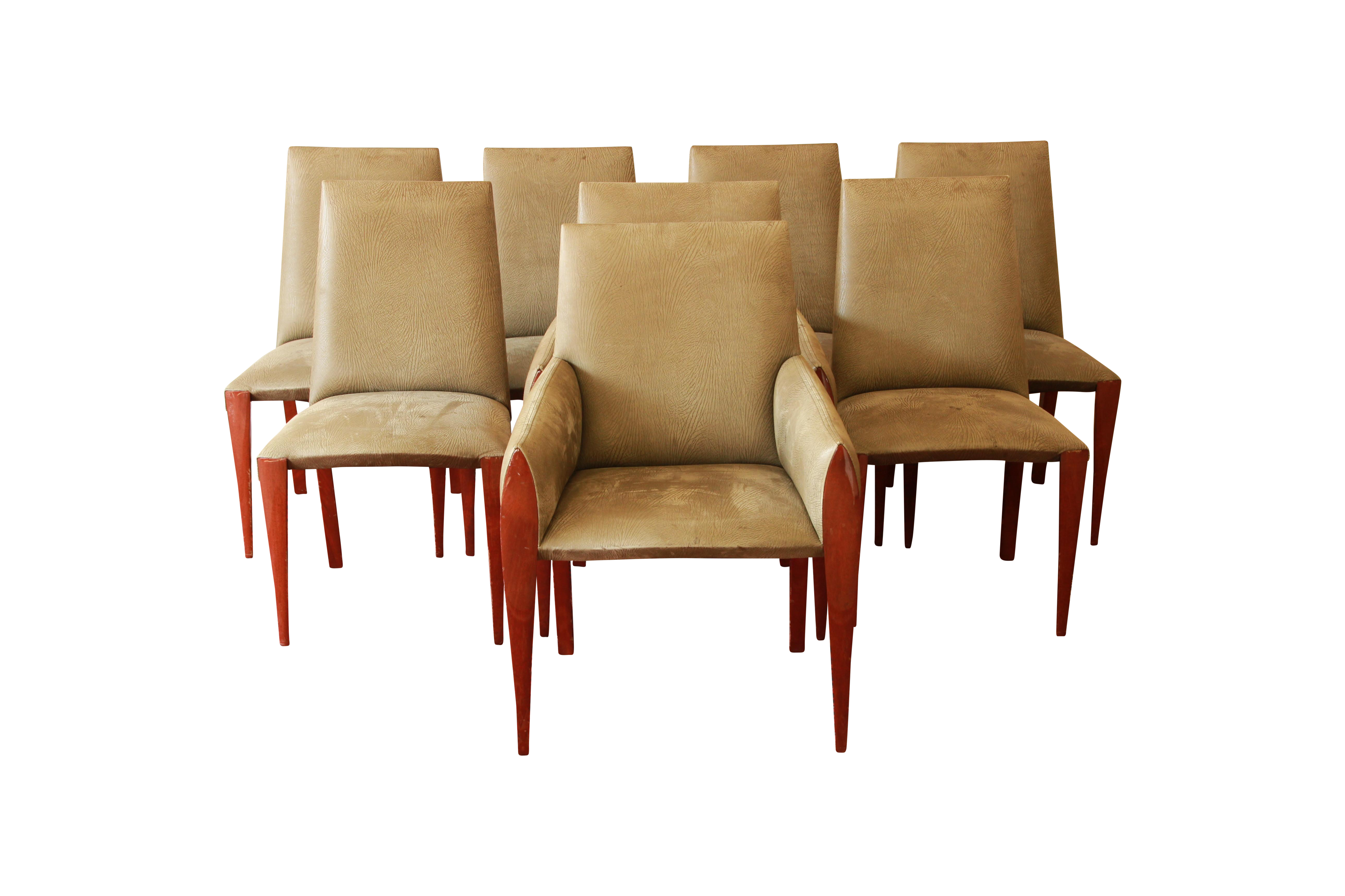 Dakota Jackson Ke Zu Dining Chairs Set Of 8 Chairish