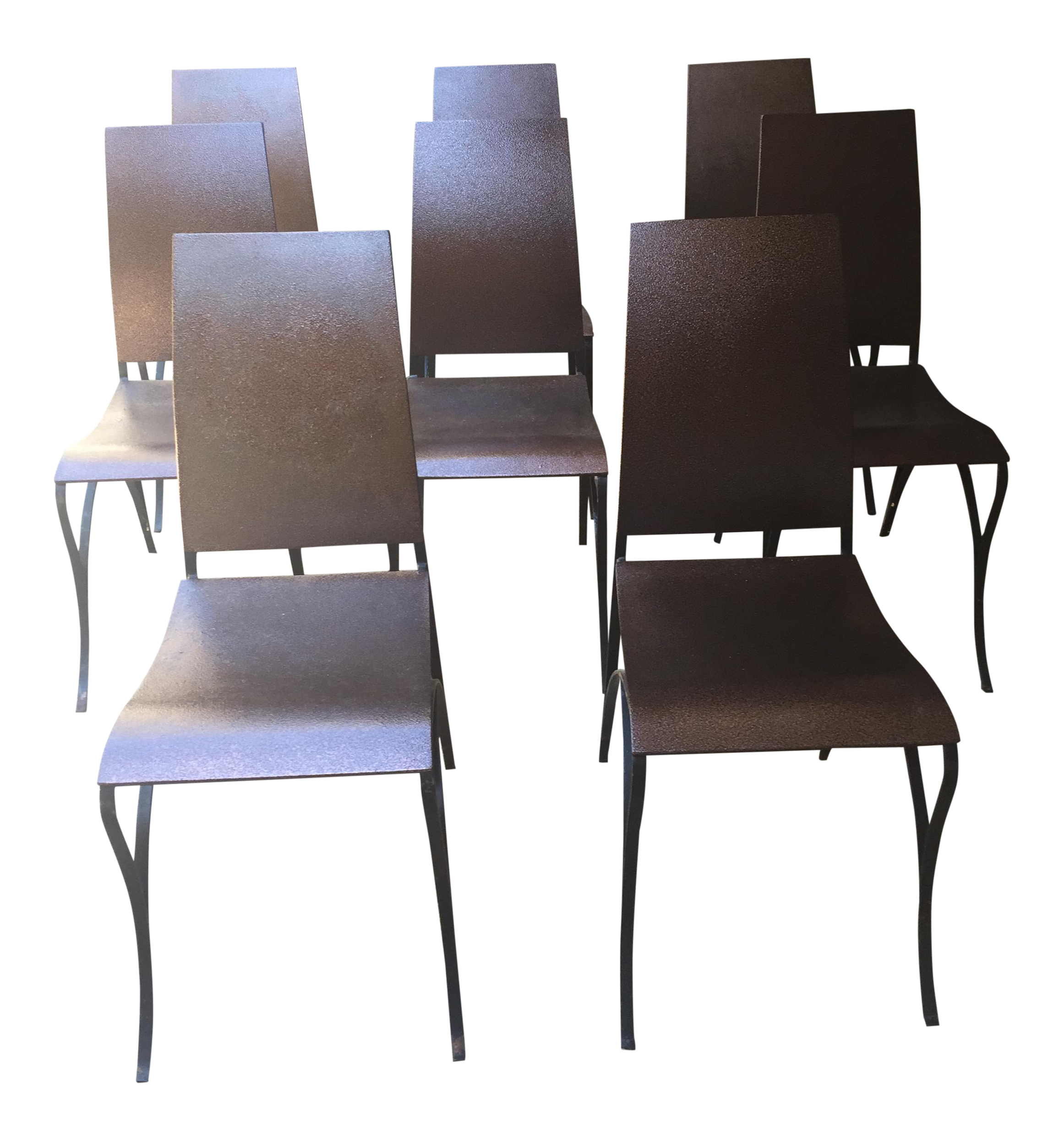 Custom Copper & Iron Dining Chairs Set of 8