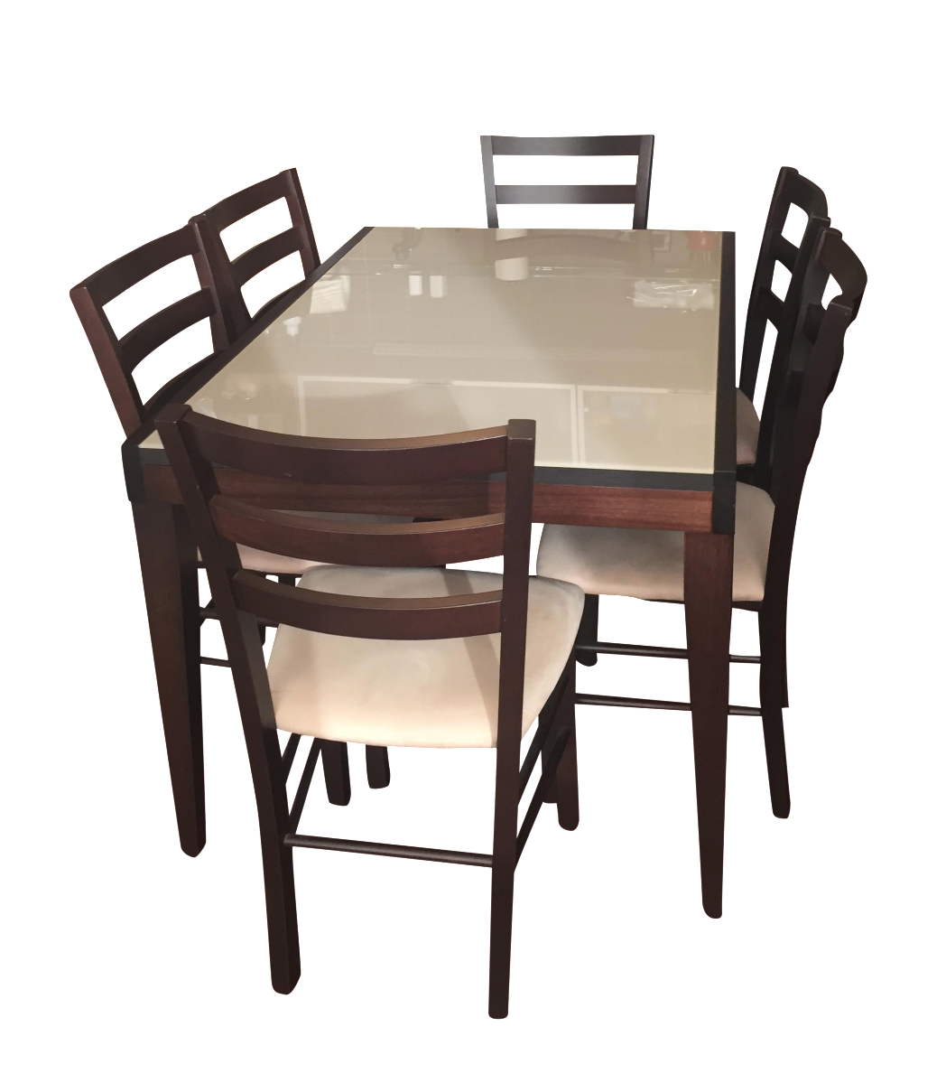 Macy's Glass Table With 6 Chairs
