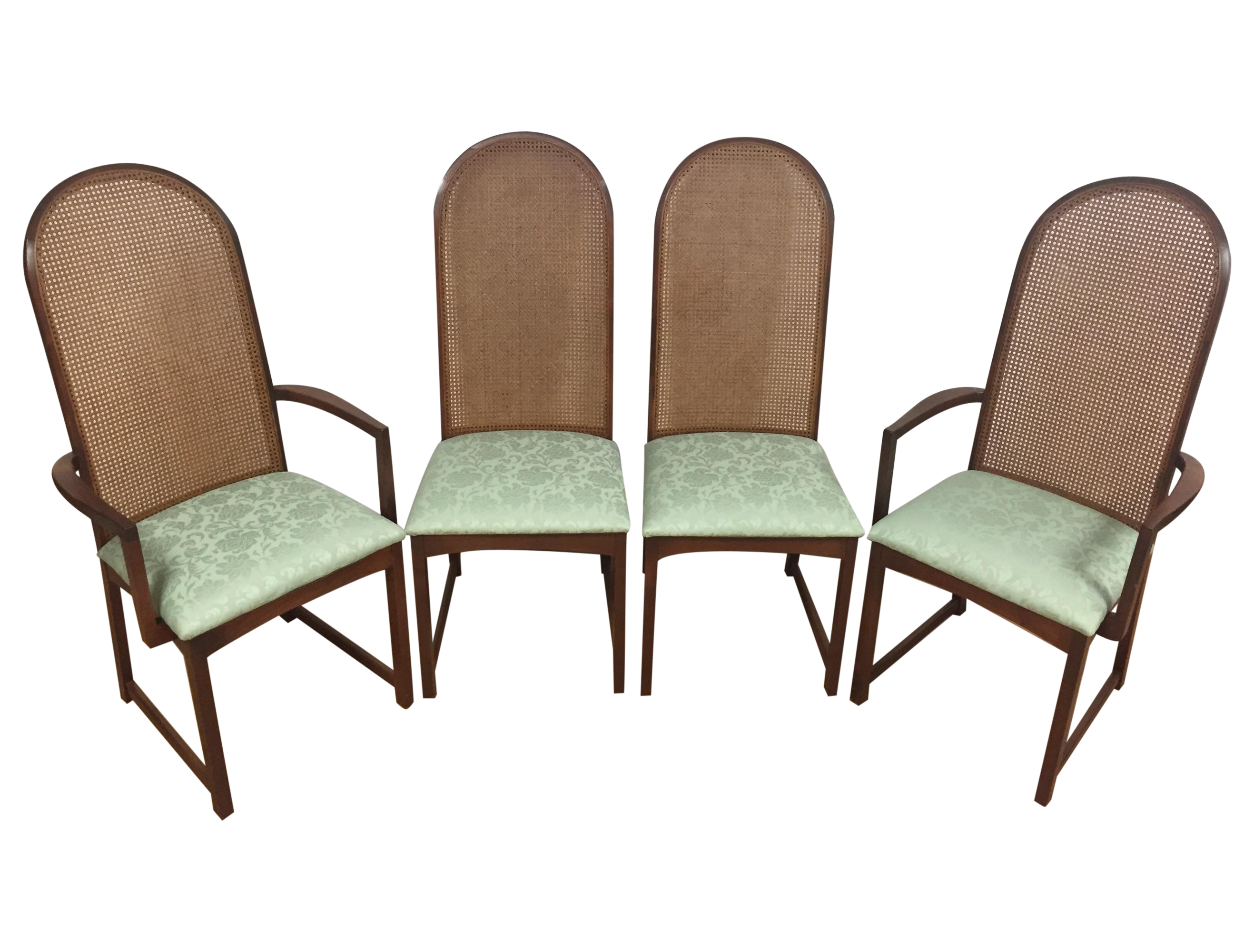 Milo Baughman Cane Back Chairs Set of 4