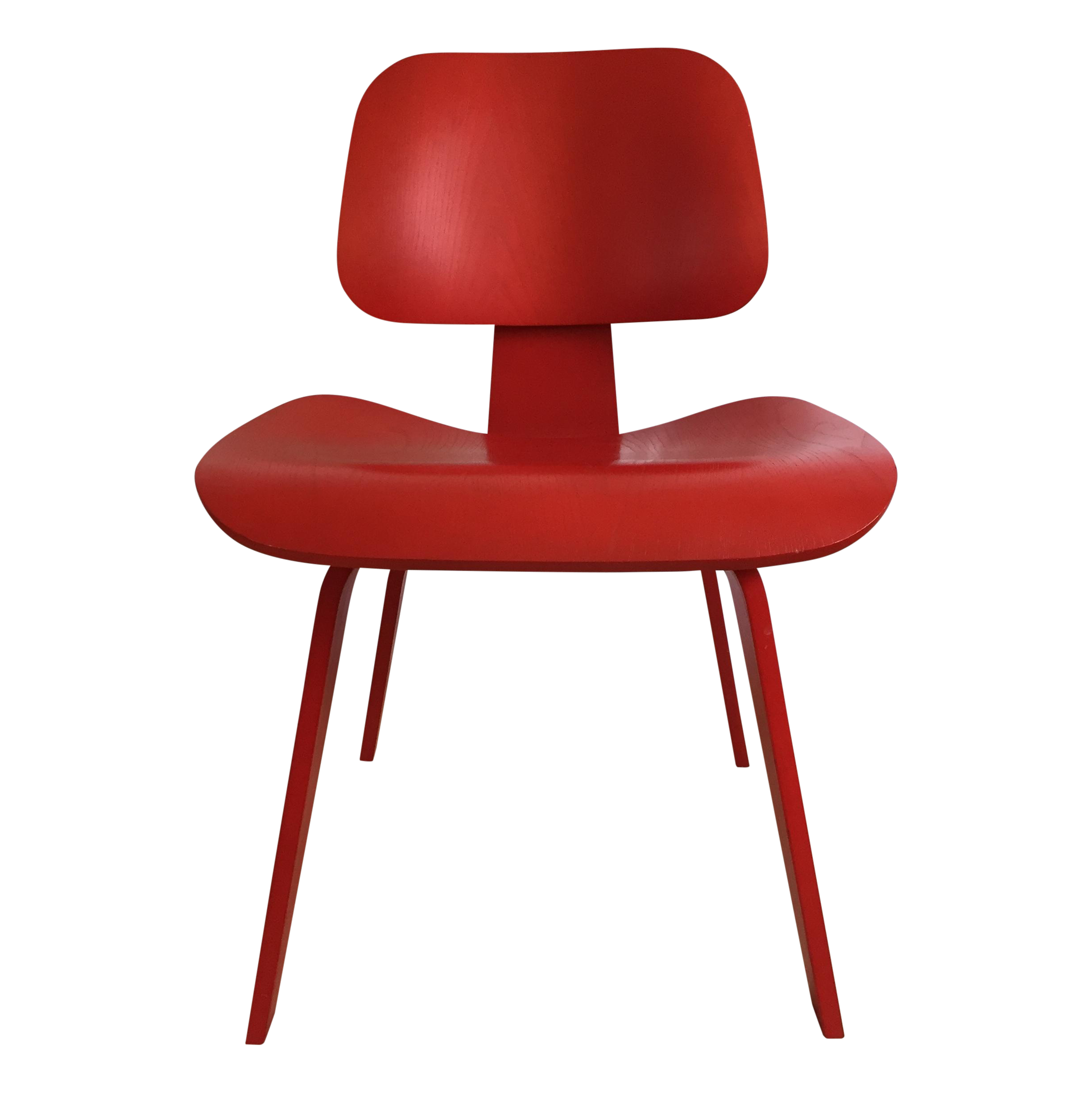 Eames DCW From Herman Miller Red Dining Chair