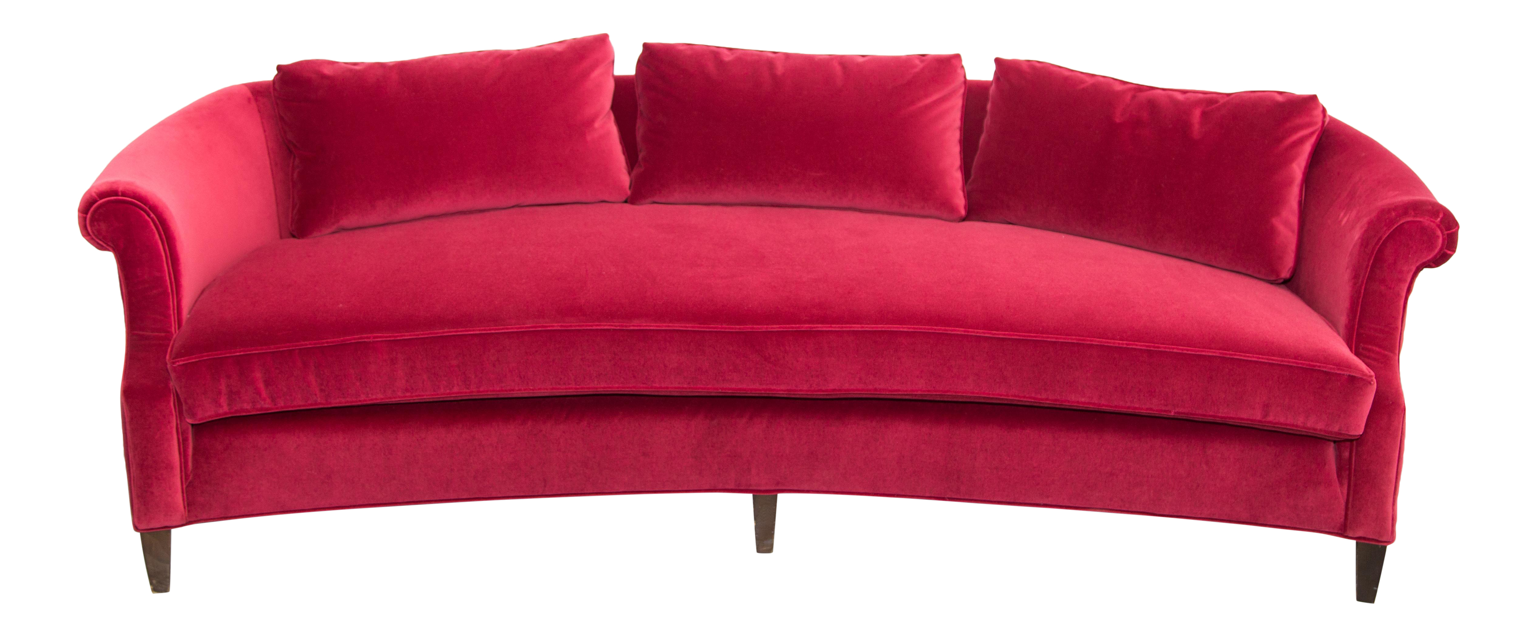 Drexel Heritage Dorothy Draper Sofa In A Luxe Red Velvet