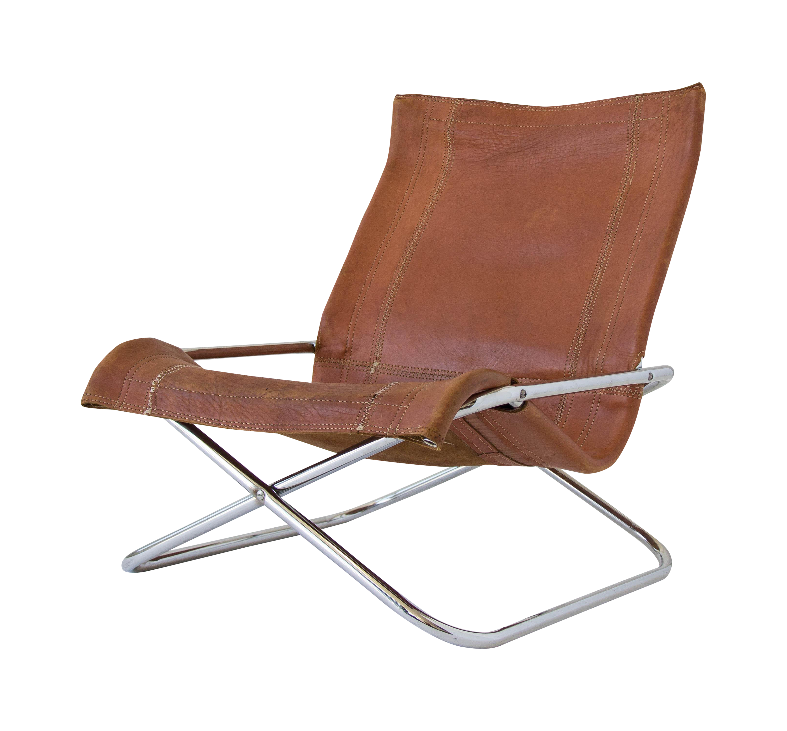 Sueki Uchida Leather Sling Chair