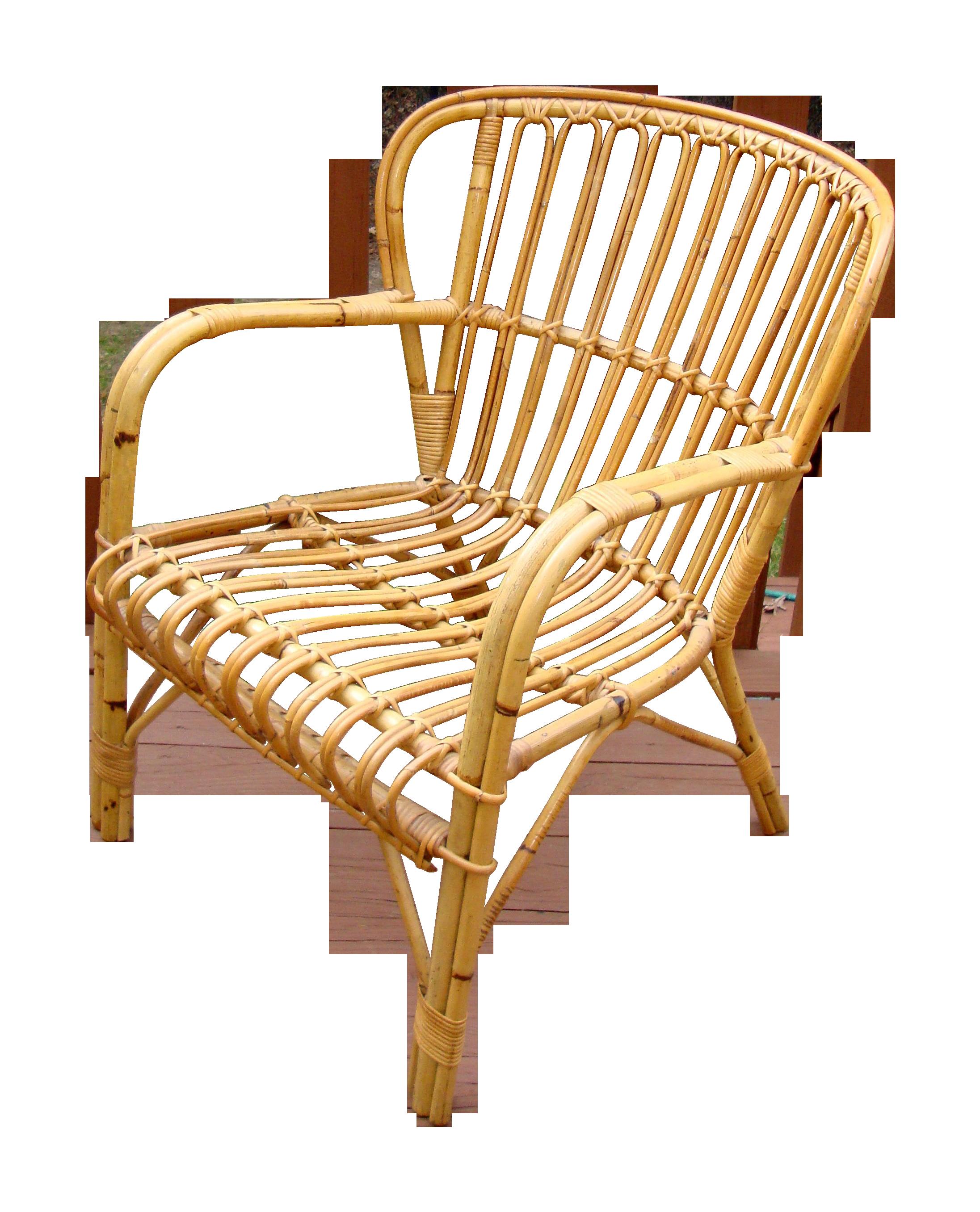 Franco Albini Mid Century Rattan Bentwood Chair