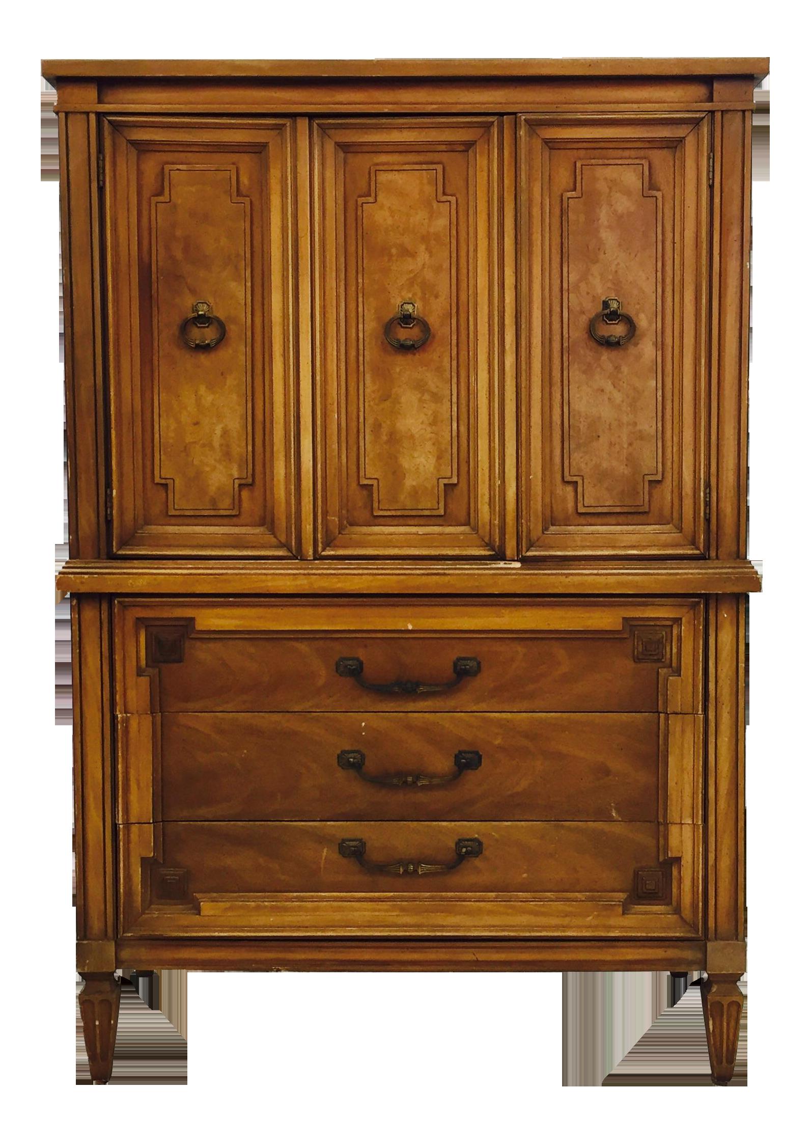 Image of Vintage Thomasville Tall Dresser Chest - Vintage Thomasville Tall Dresser Chest Chairish