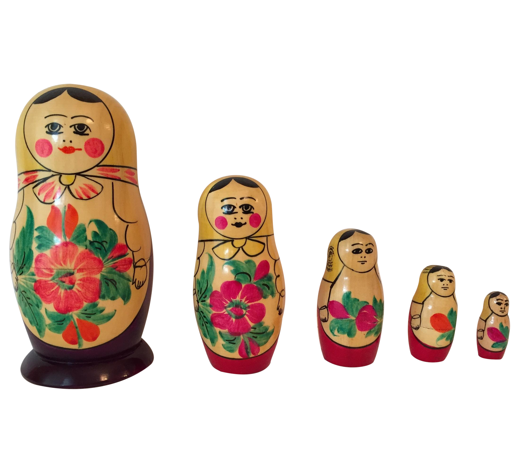 USSR Matryoshka Russian Nesting Dolls Set Of 5 Chairish