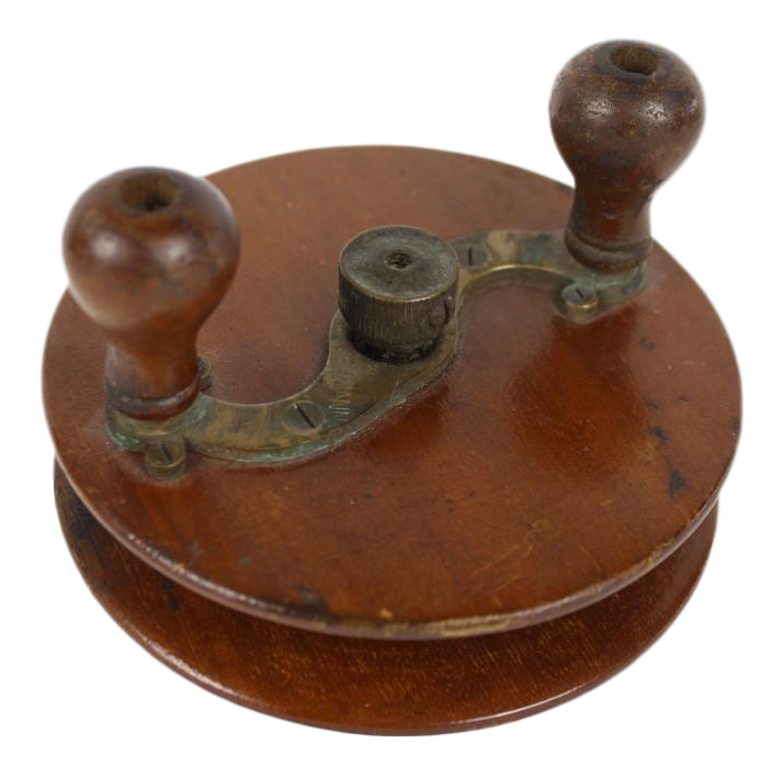 1890s Chas Lehmann Wooden Fishing Reel Chairish