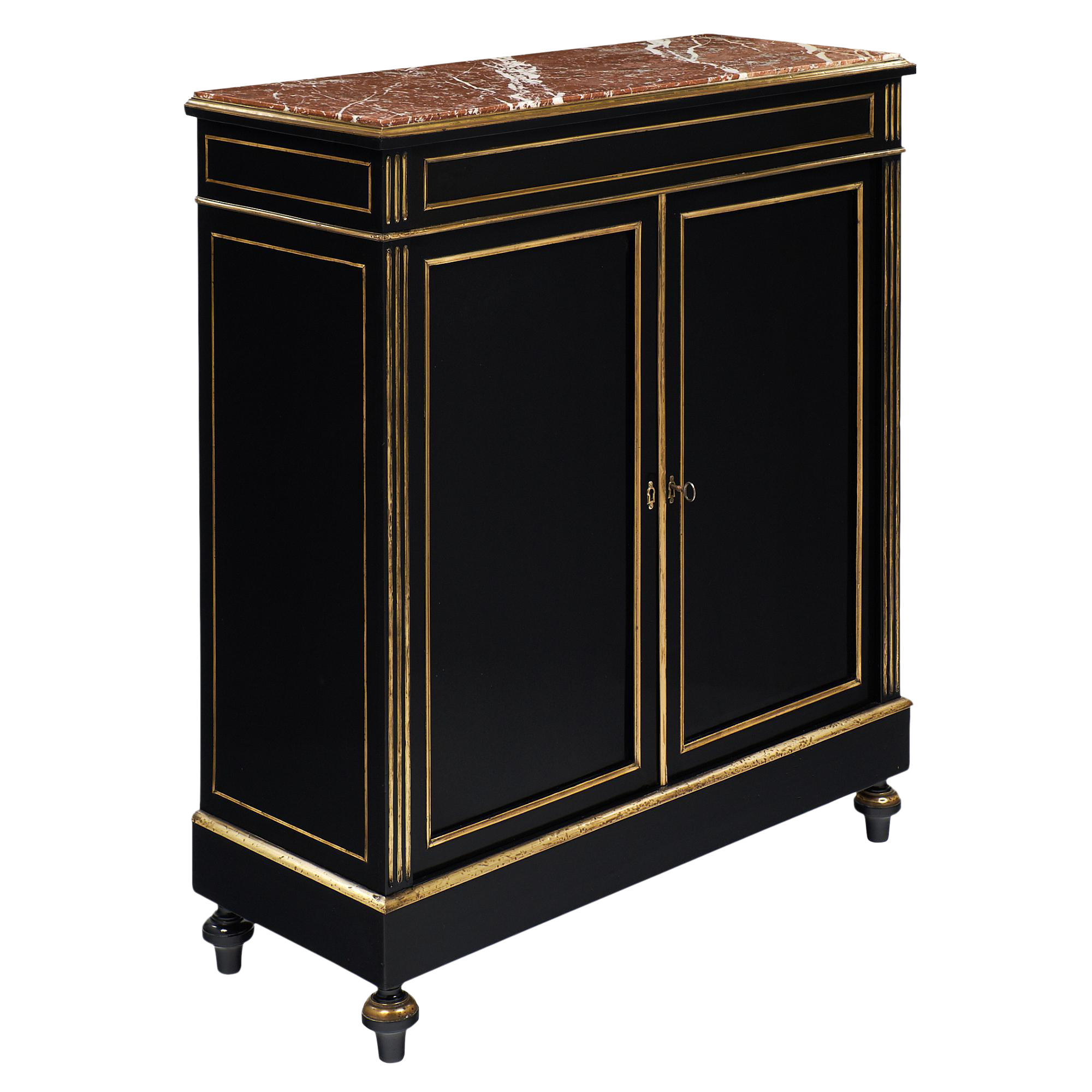 napoleon iii buffet with rouge royal marble top chairish. Black Bedroom Furniture Sets. Home Design Ideas