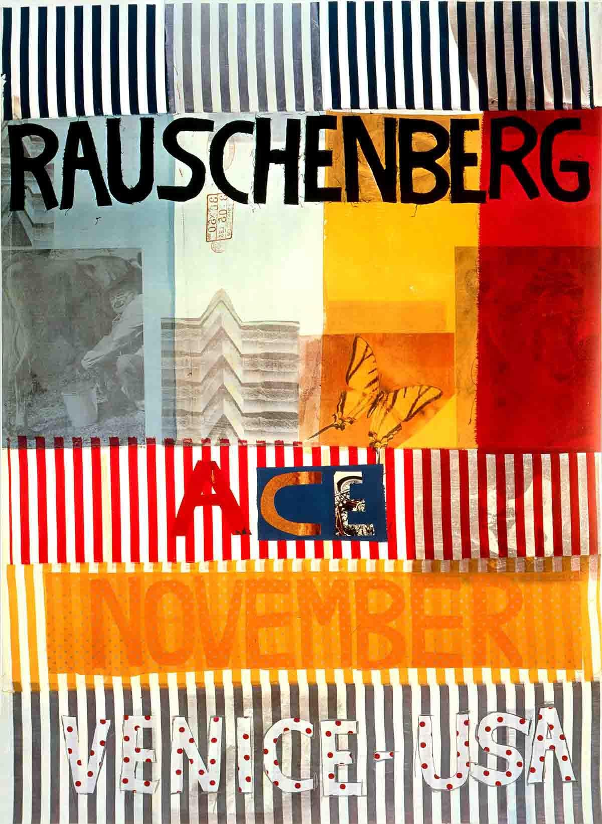 1977 Ace Gallery Exhibition Poster By Robert Rauschenberg