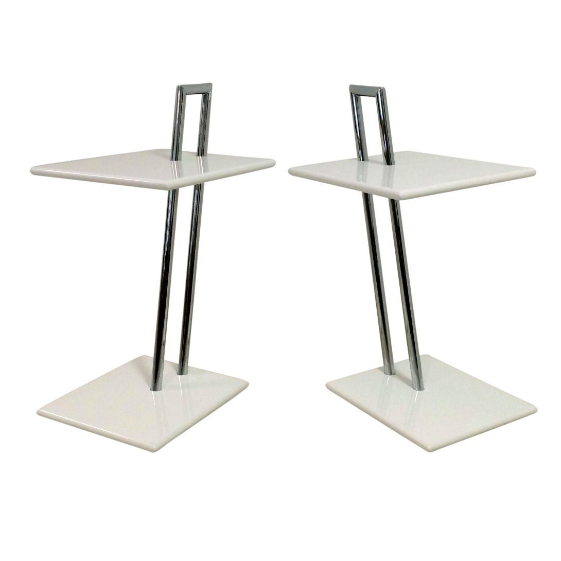 vintage eileen gray occasional tables a pair chairish. Black Bedroom Furniture Sets. Home Design Ideas