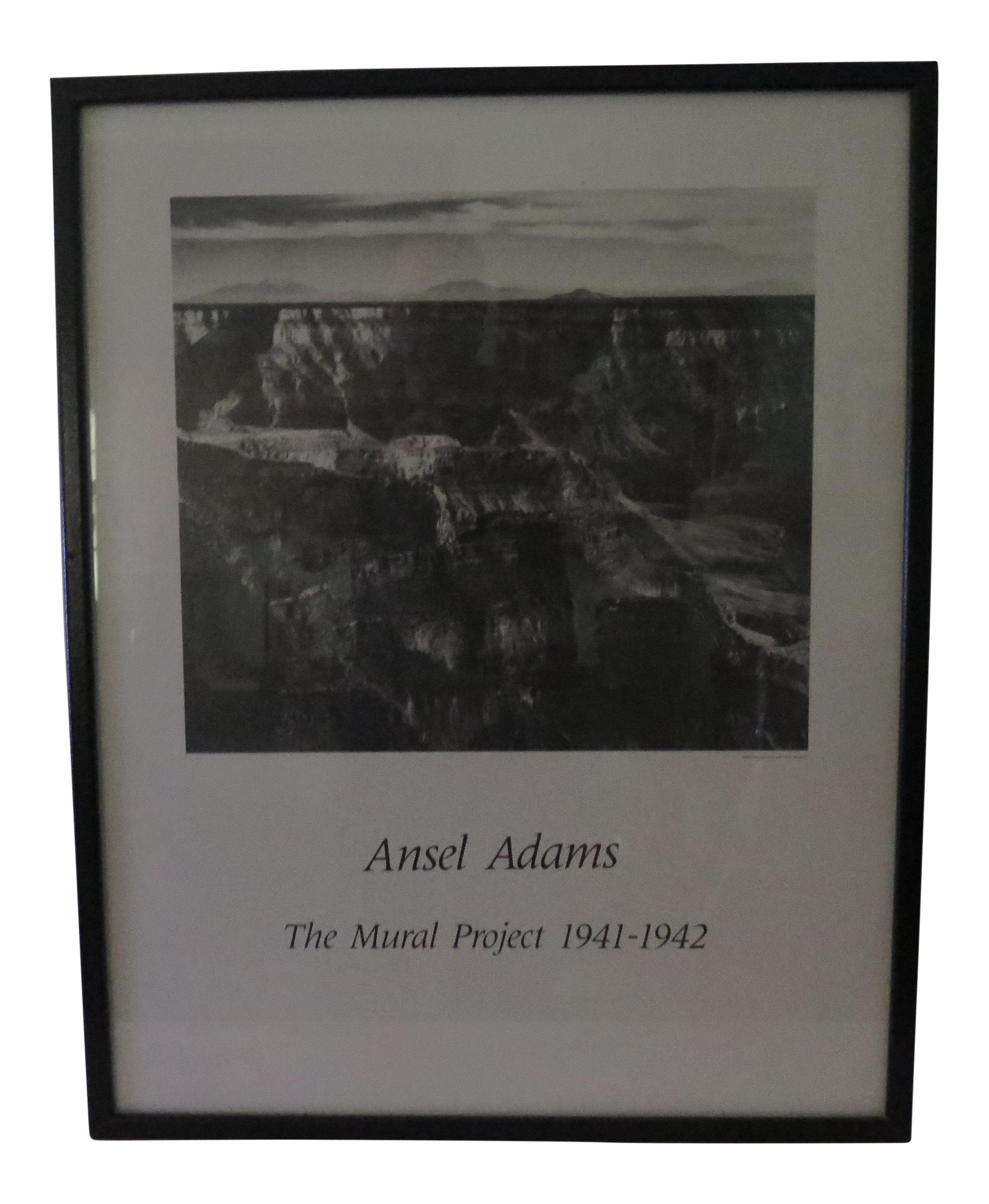 vintage ansel adams mural project poster chairish