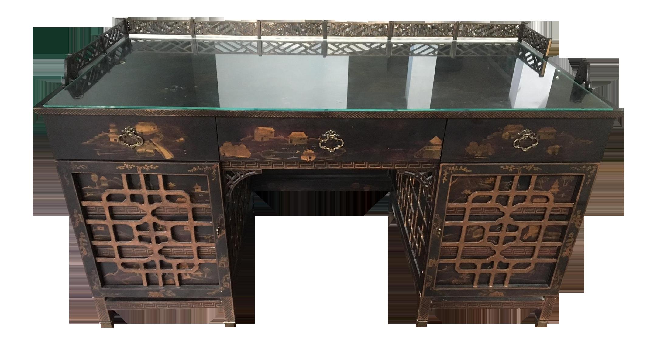 Drexel Heritage Mandalay Asian Chinoiserie Desk Chairish